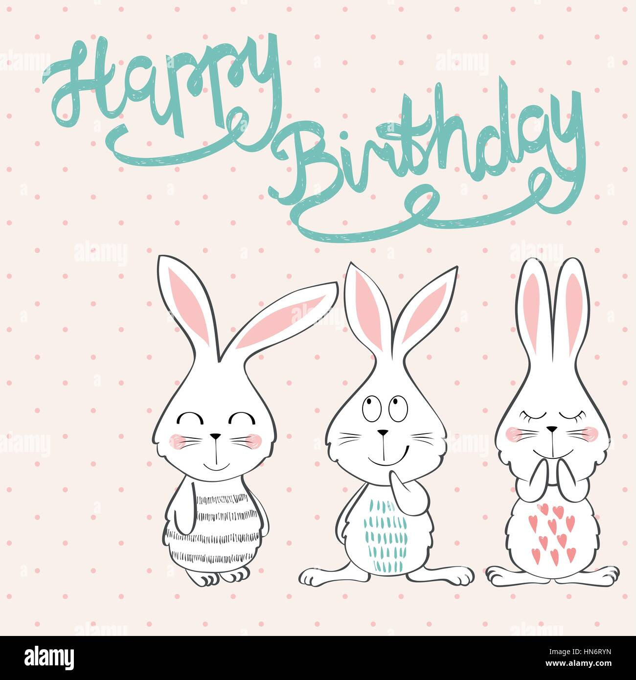 Collection Of Cute Artistic Cards For Kids Bunny In Vector