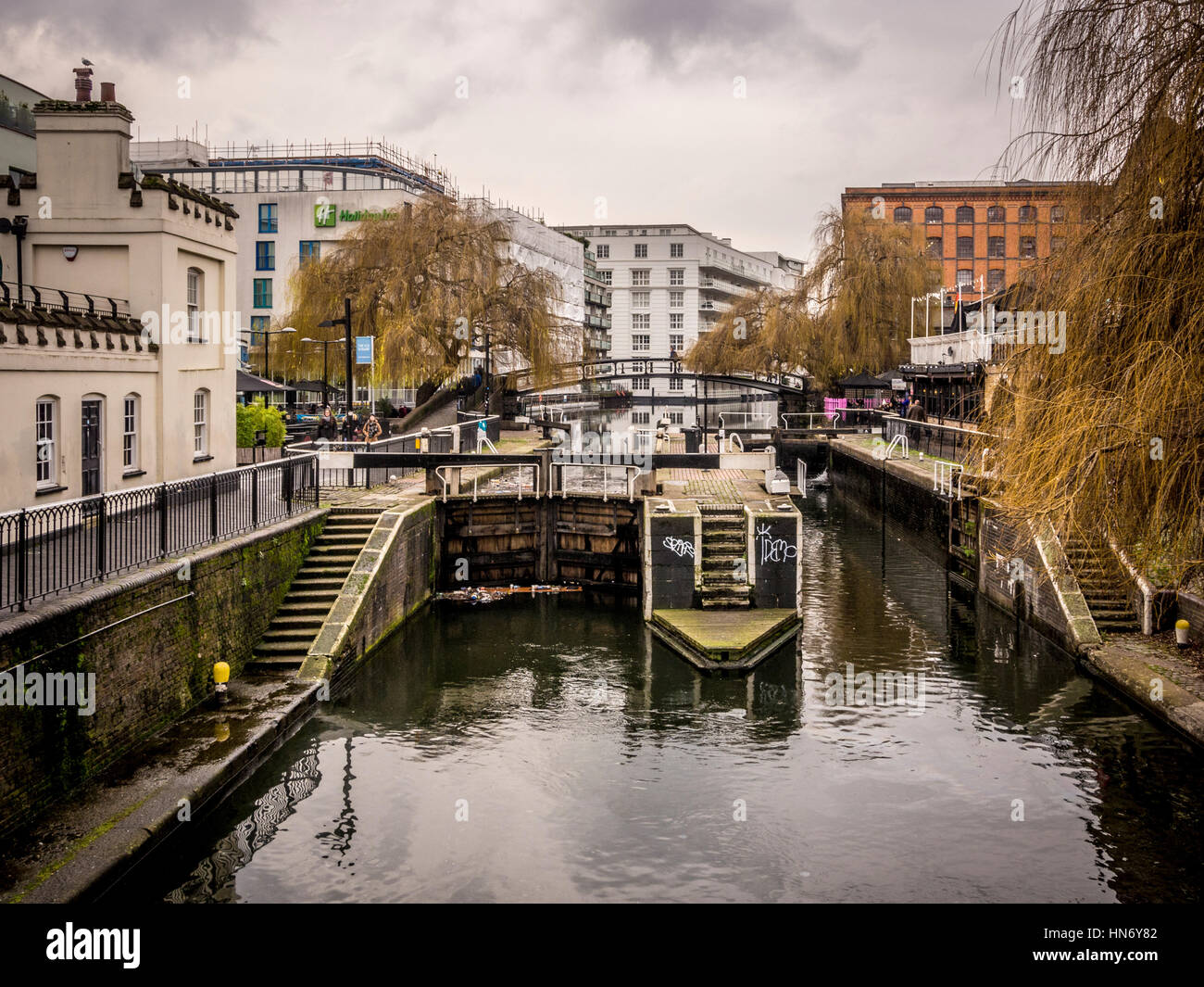 Camden Lock on the Grand Union (Regent's) Canal, London, UK. - Stock Image