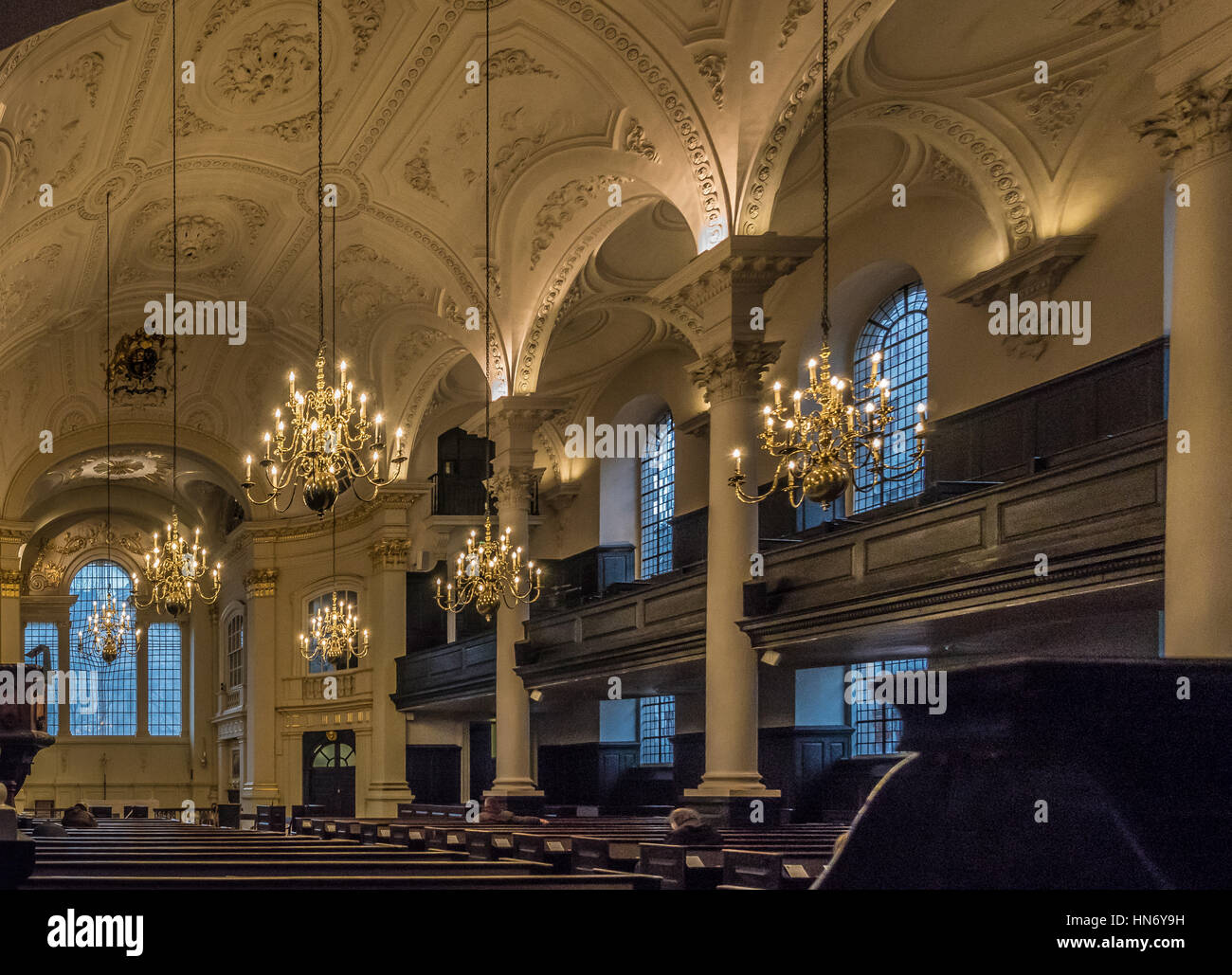 St Martin-in-the-Fields, English Anglican church at the north-east corner of Trafalgar Square in the City of Westminster, - Stock Image