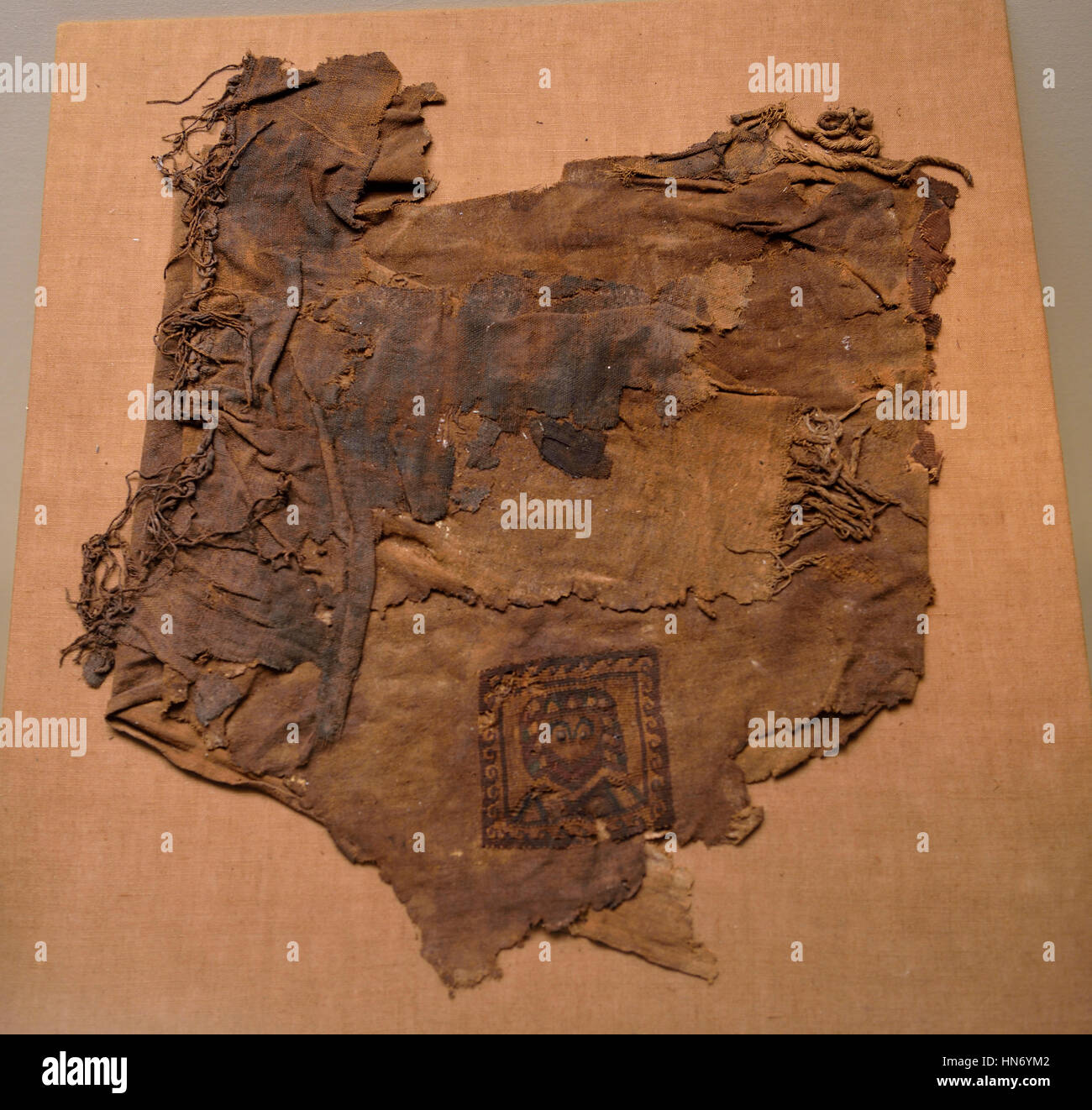 Fragment of leather and cloth. Mada'in Saleh. 3rd century BCE-3rd century CE. Textile and leather. Al-'Ula - Stock Image