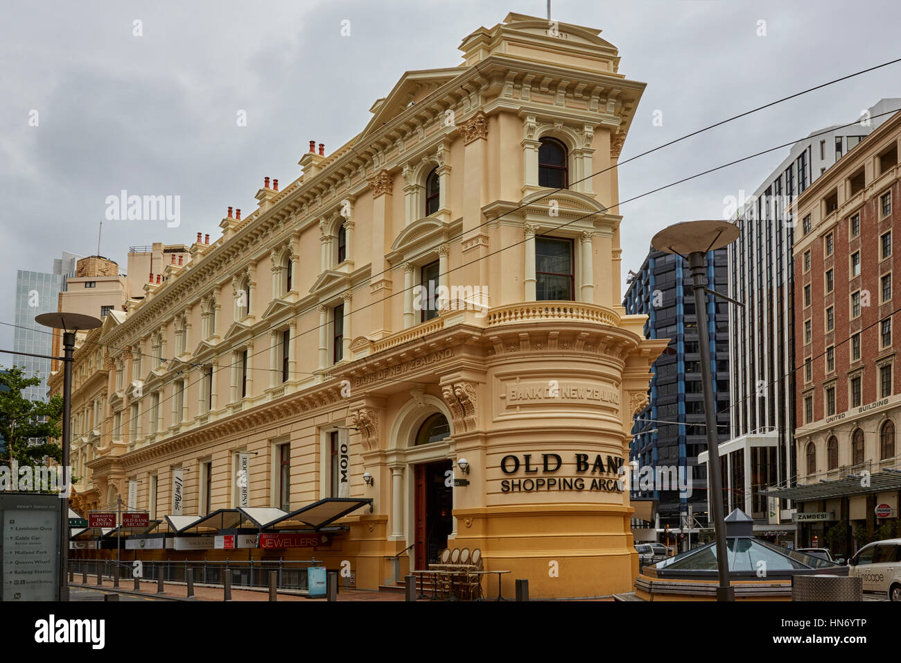 Old Bank of New Zealand, Lambton Quay, Wellington, New Zealand - Stock Image