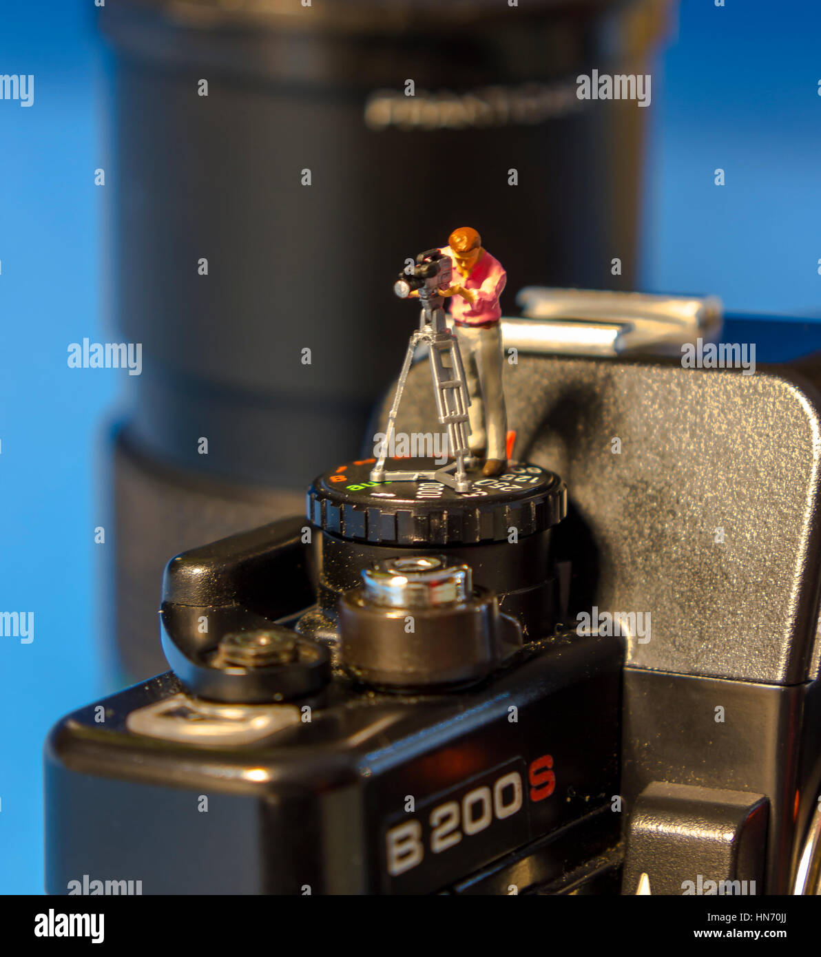 The miniature World of Photography - Stock Image