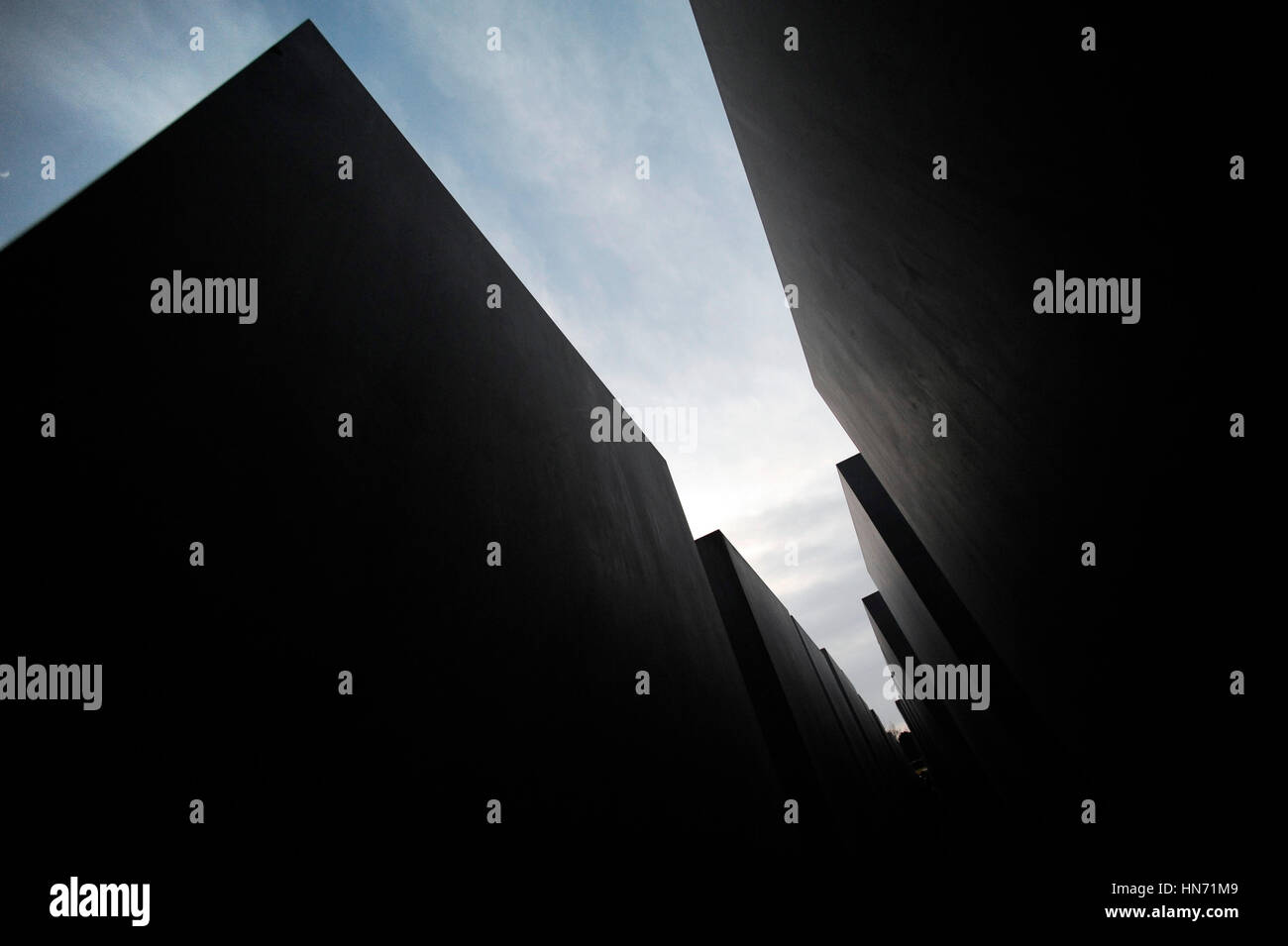 Memorial to the Murdered Jews of Europe, Berlin - Stock Image
