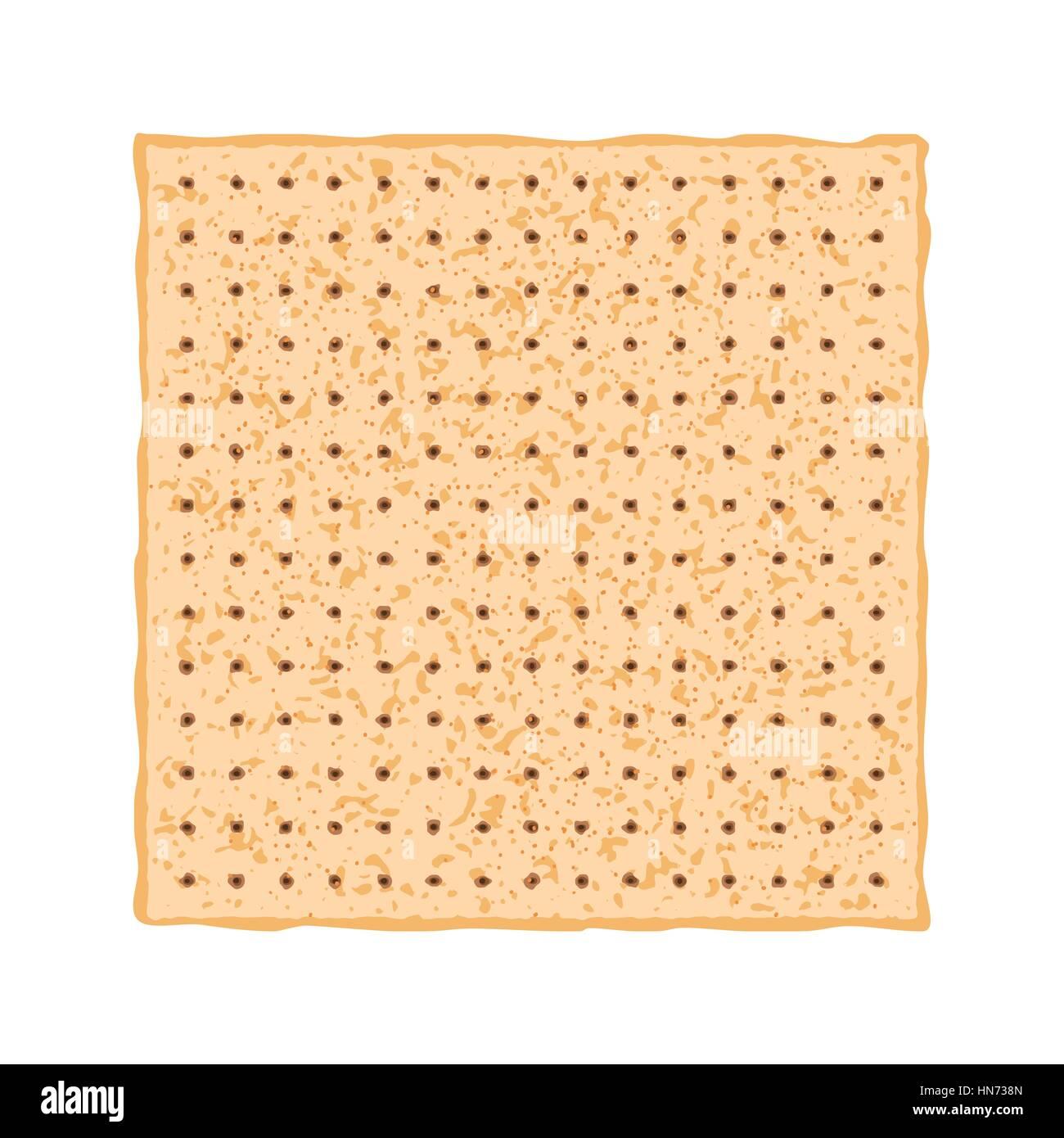 Vector illustration of Matzo. Matza from the Jewish holiday Passover. - Stock Image
