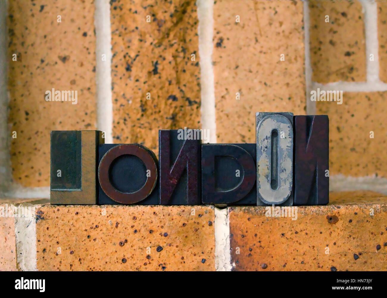 London Typesetting - Stock Image