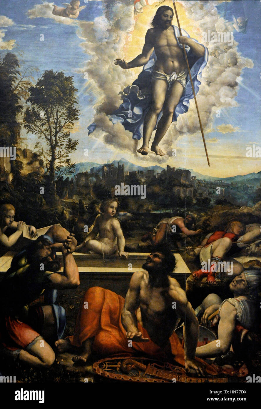 Il Sodoma (1477-1549). Italian painter. Resurrection of Jesus, 1534. Museum  of Capodimonte. Naples. Italy.