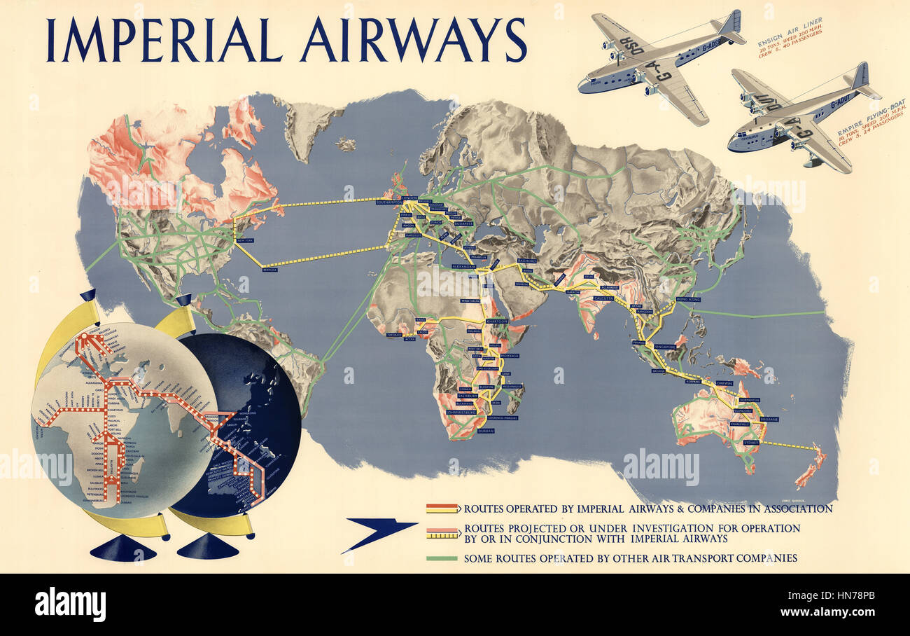 Imperial Airways Poster Stock Photo