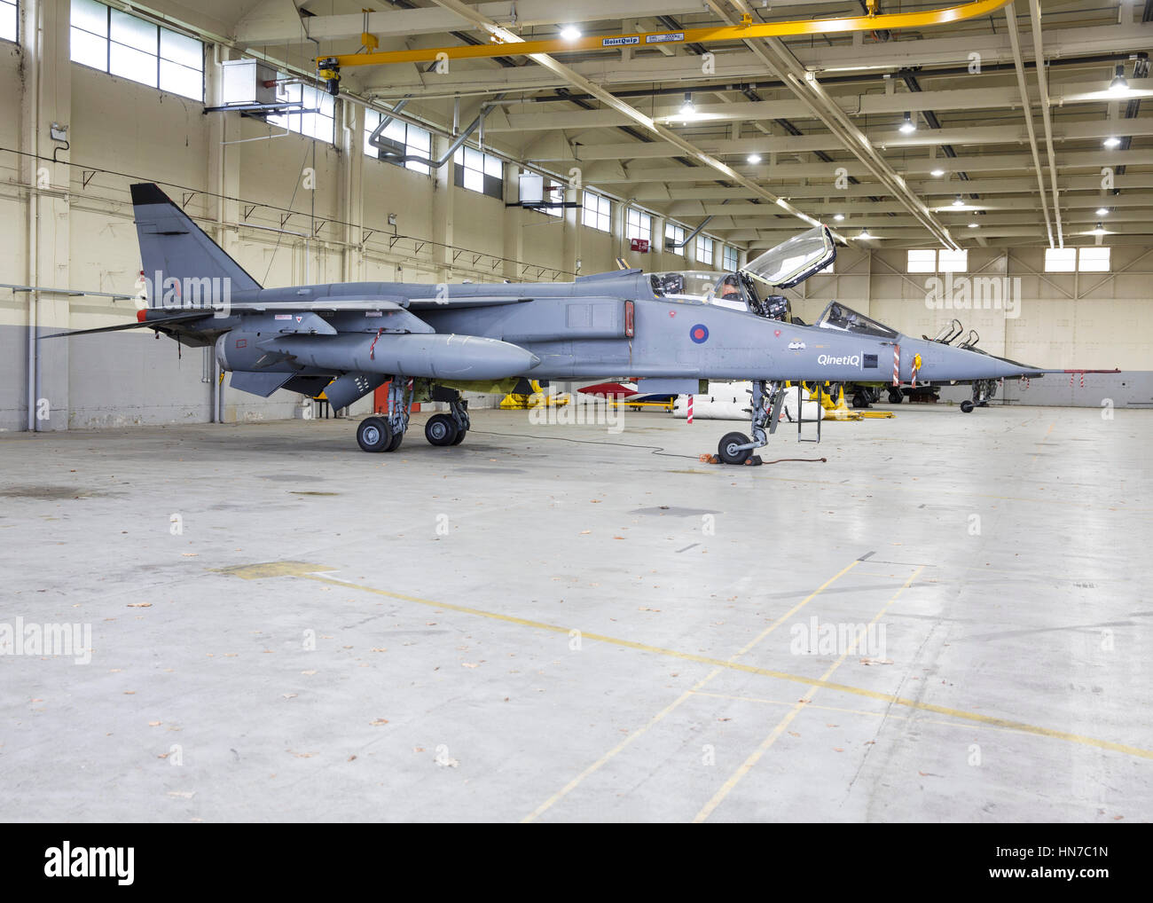 SEPE Jaguar GR1 RAF jet fighter aircraft in the livery of QinetiQ - Stock Image