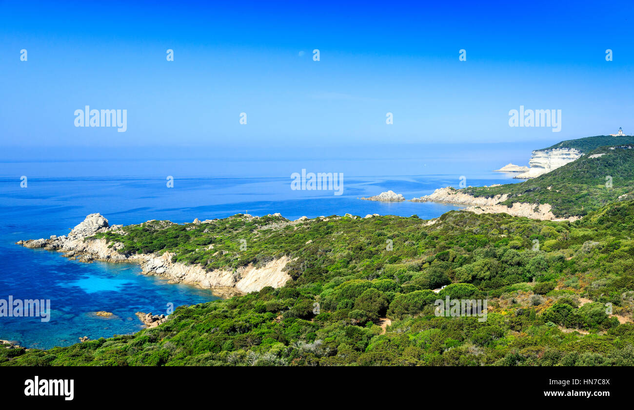 view of sperone coastline, Sperone, Corsica, France - Stock Image