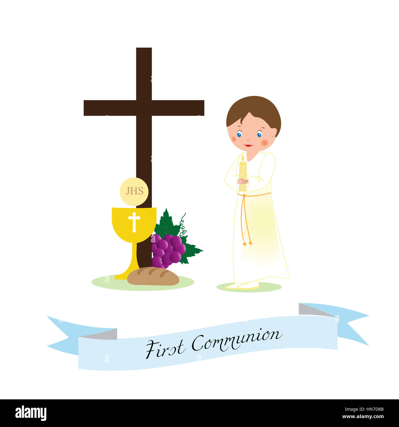 my first communion boy in a white rope stock photo holy communion clip art images holy communion clipart for bulletin cover
