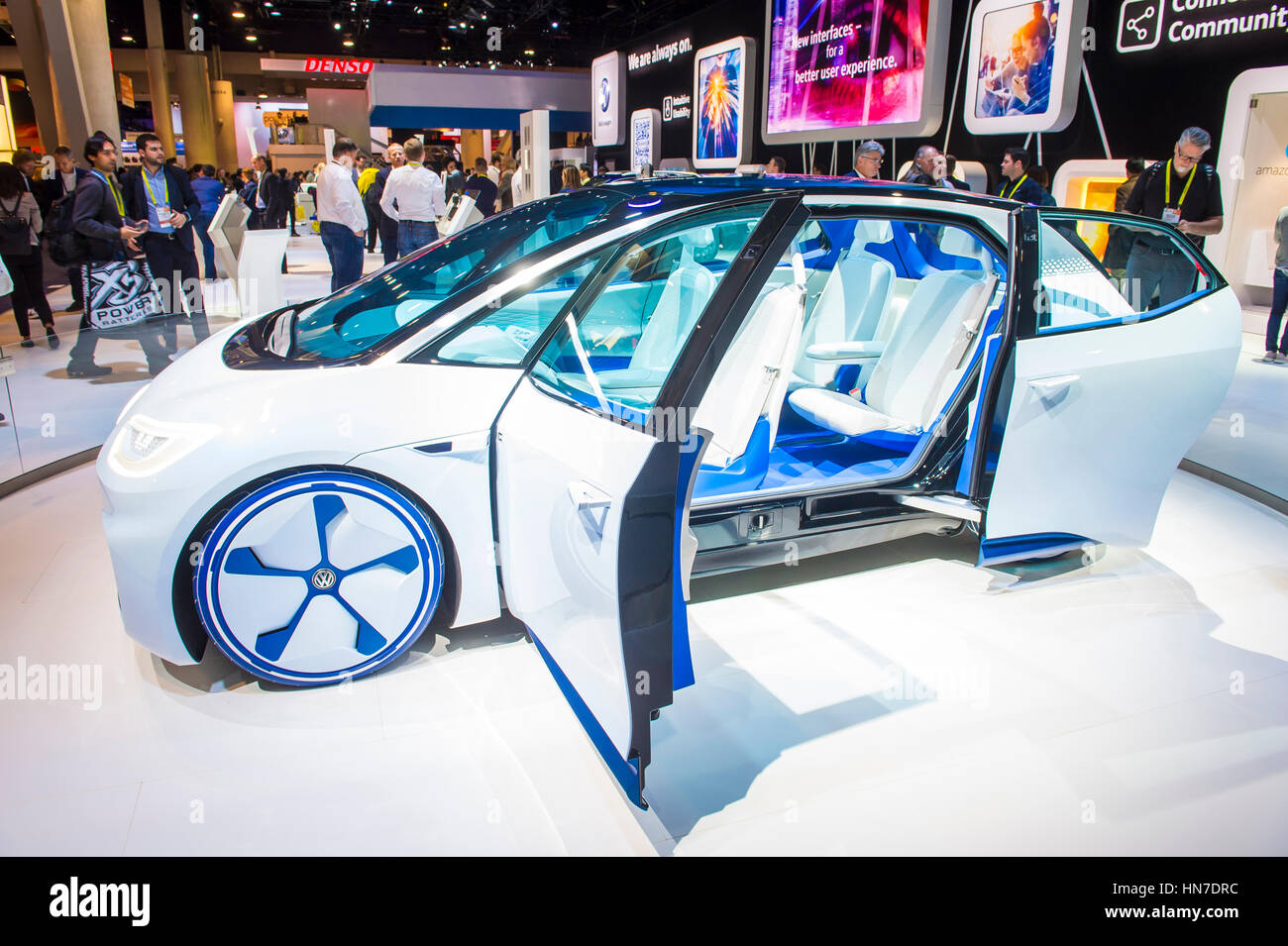 Volkswagen Booth Ces Show In Stock Photos Volkswagen Booth Ces - Vw car show las vegas
