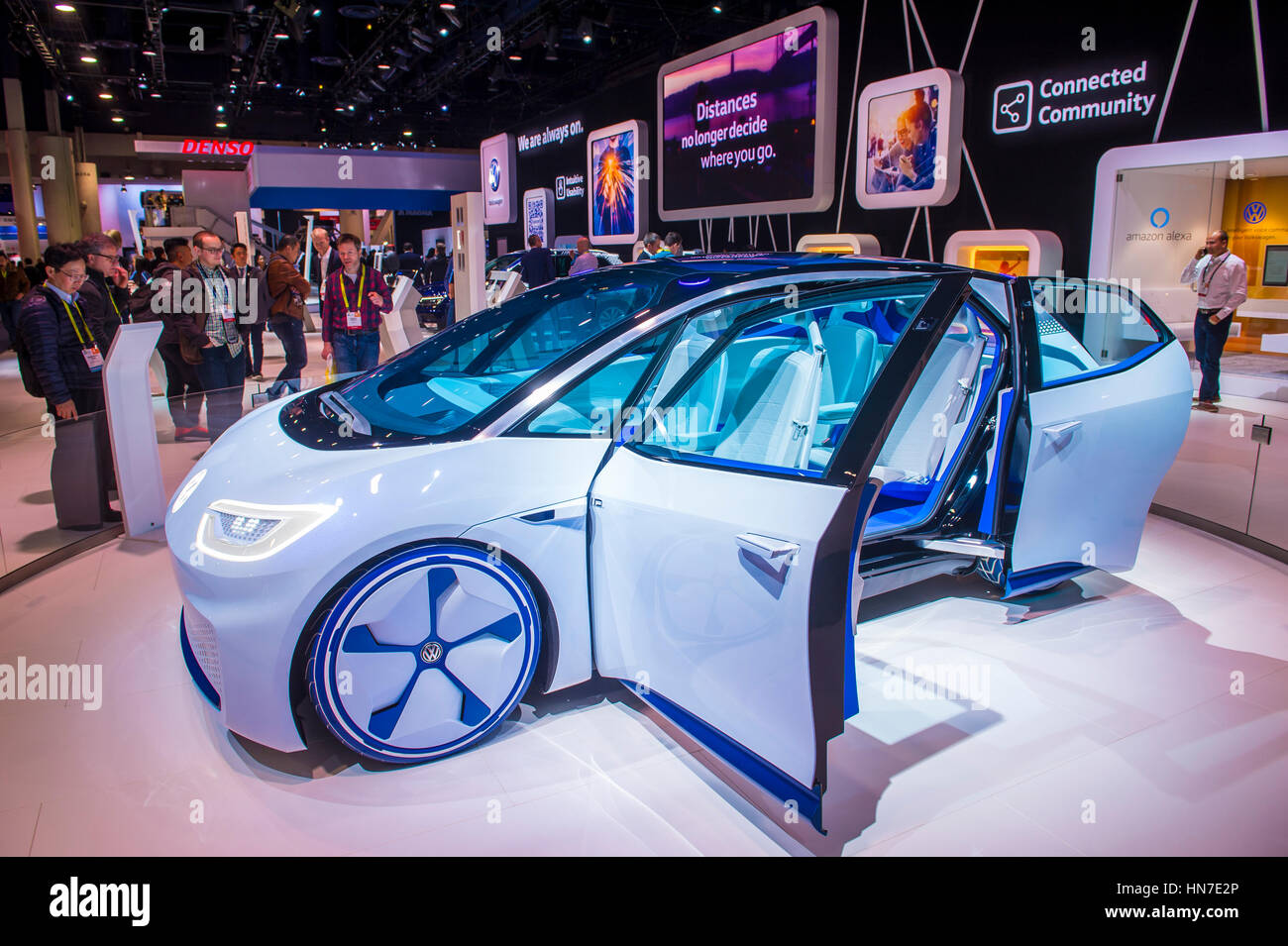 Vw Las Vegas >> The Volkswagen Booth At The Ces Show In Las Vegas Ces Is The