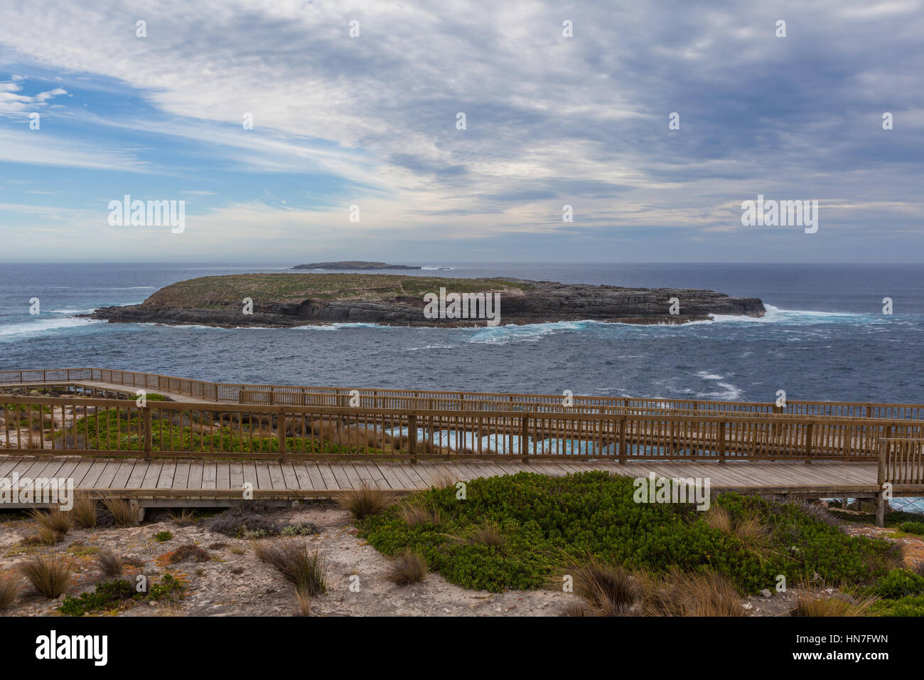 Cape du Couedic boardwalk. Flinders Chase National Park, Kangaroo Island, South Australia Stock Photo