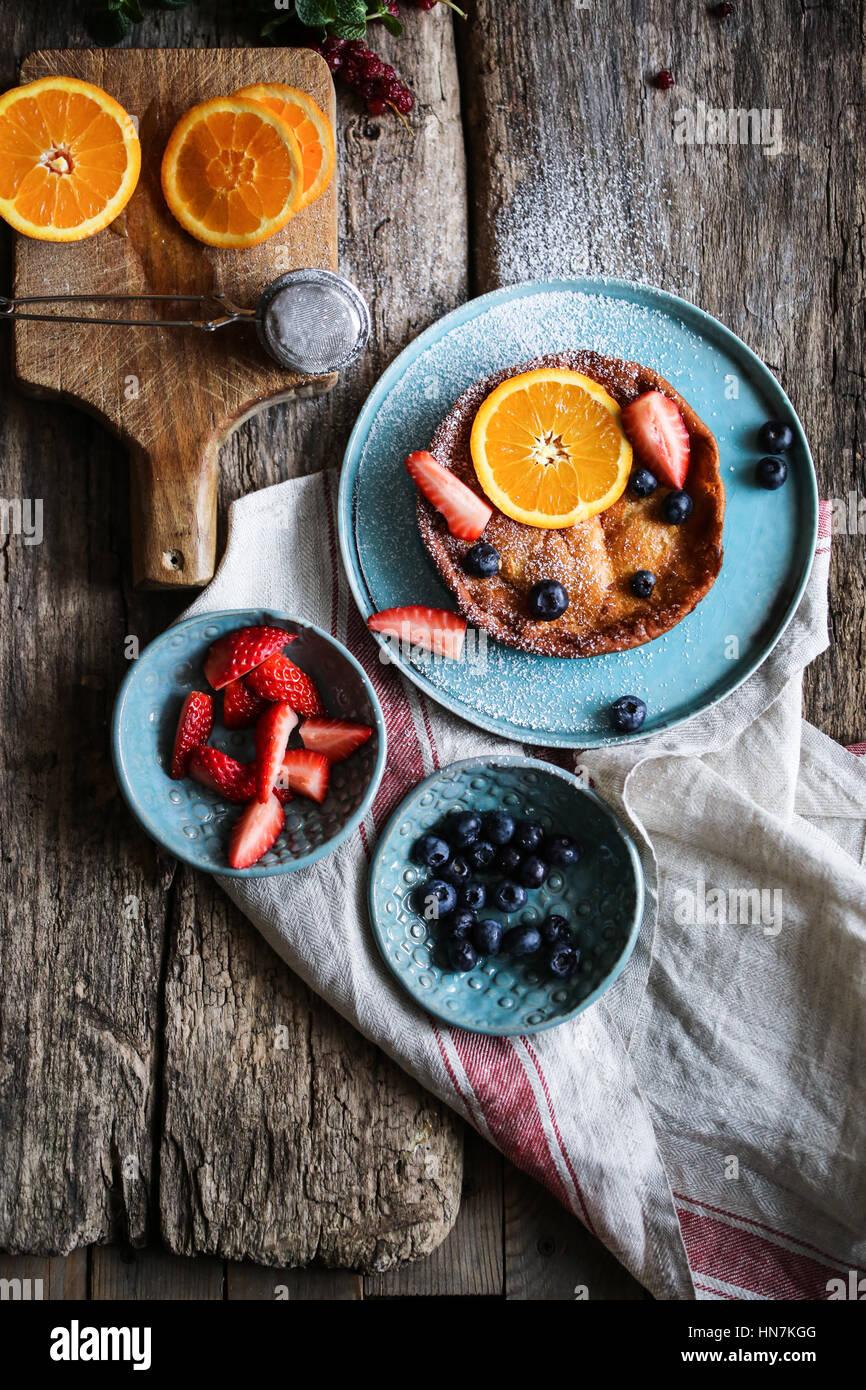 Baby dutch pancake - Stock Image