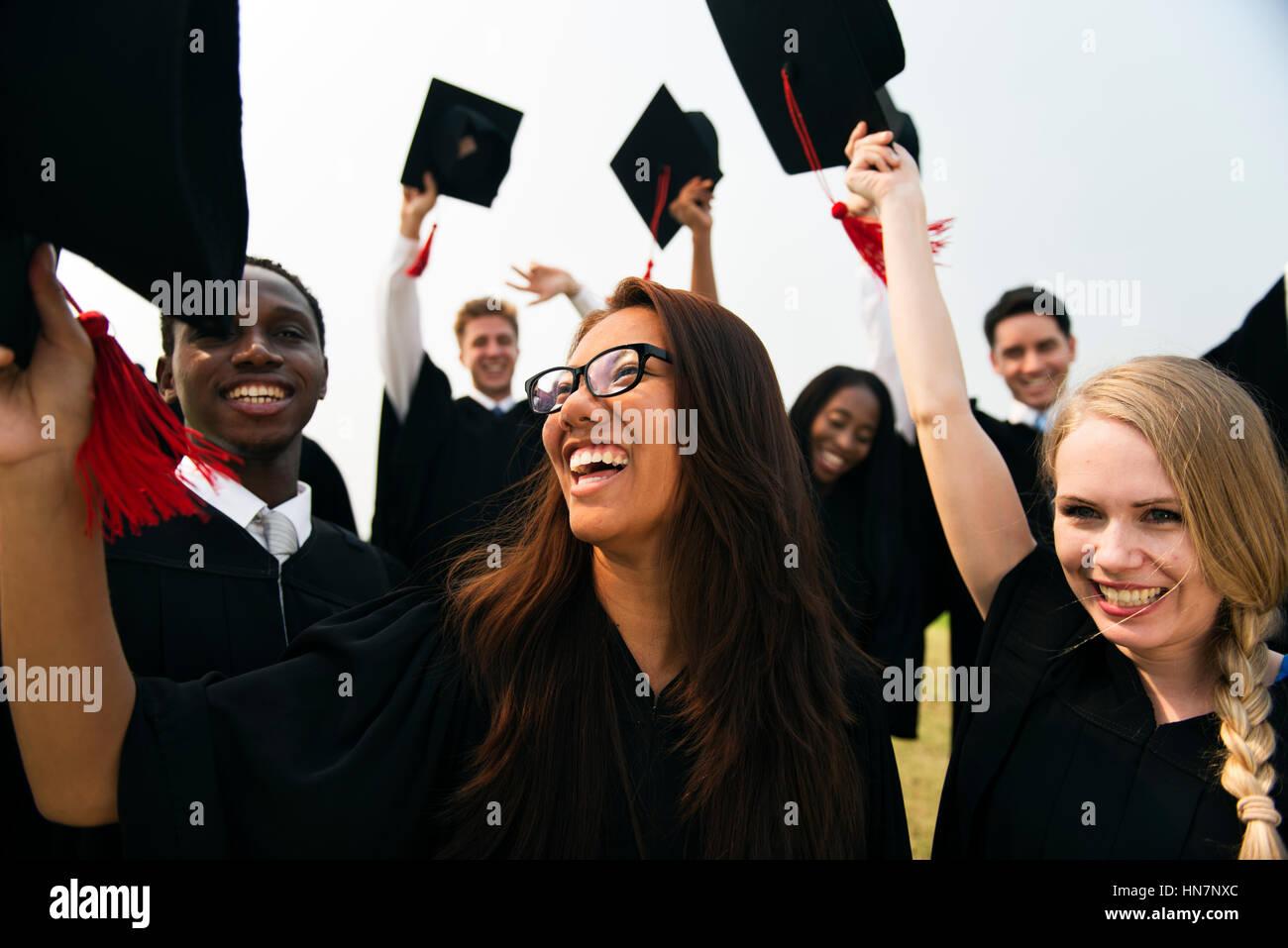 Graduation Achievement Student School College Concept Stock Photo