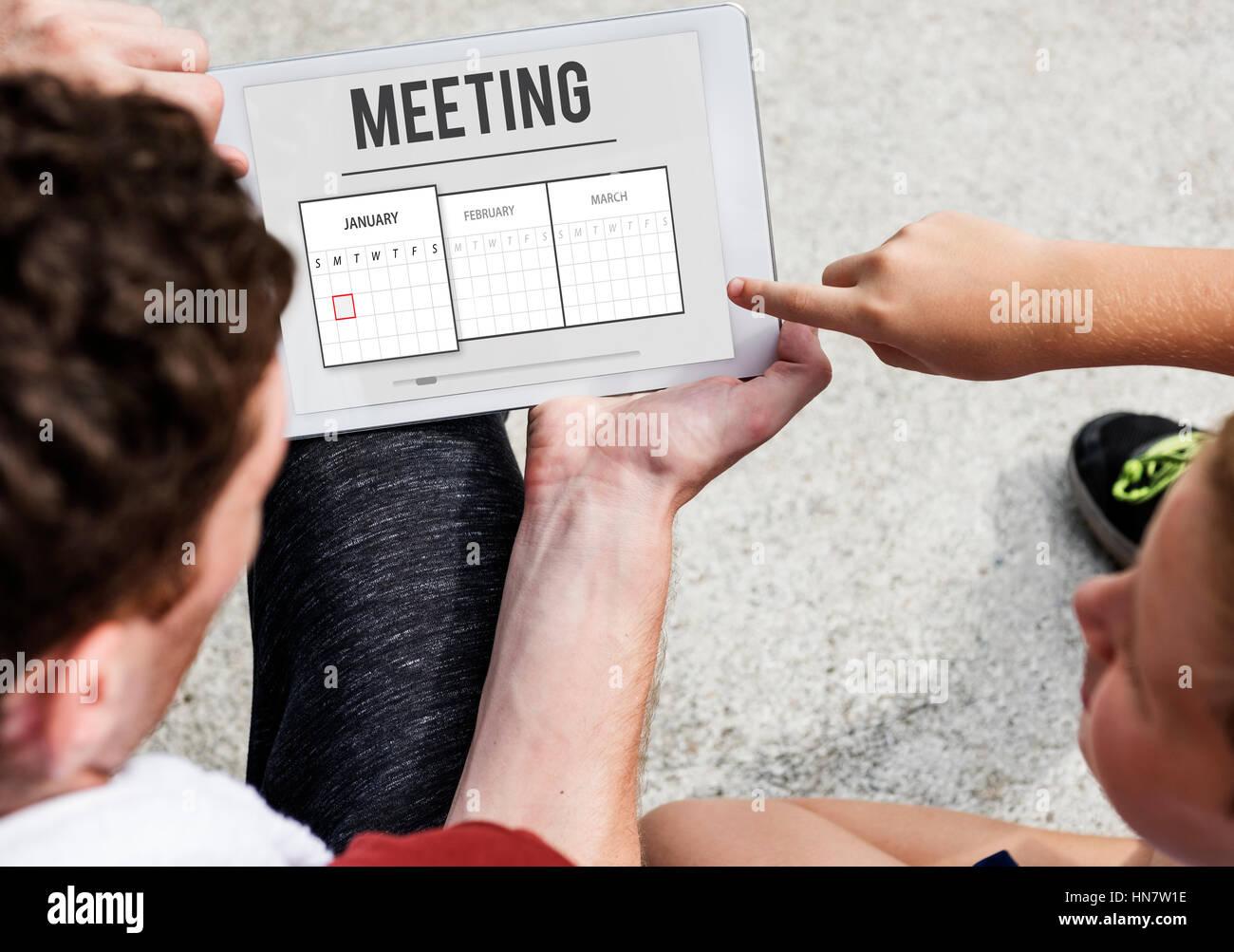 Schedule Agenda Planner Reminder Concept - Stock Image