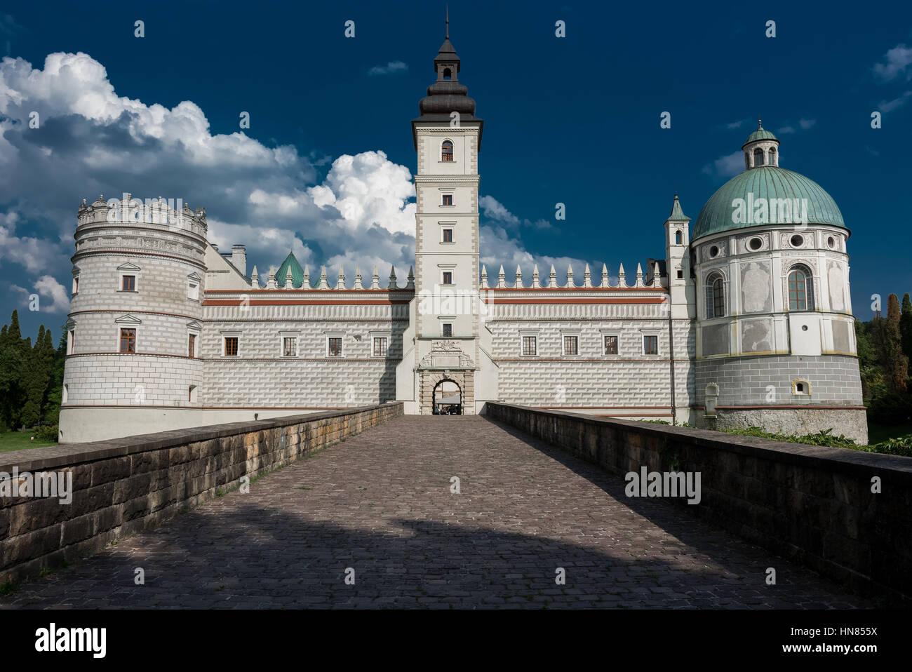 Krasiczyn Castle. Zamek w Krasiczynie Stock Photo