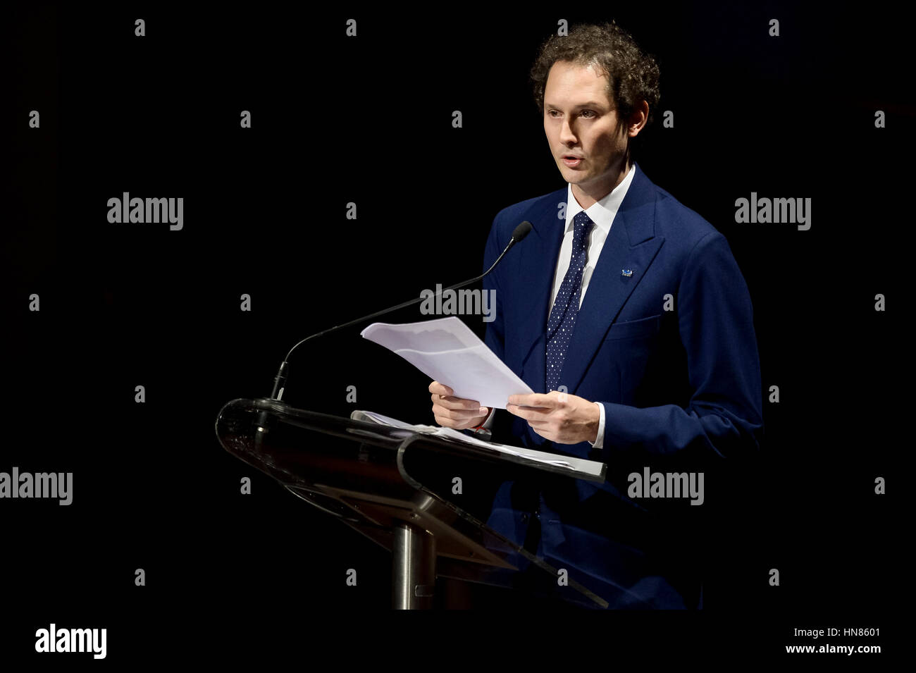 Turin, Italy. 2017, 9 february: John Philip Jacob Elkann, Italian businessman and chairman of Italiana Editrice Stock Photo