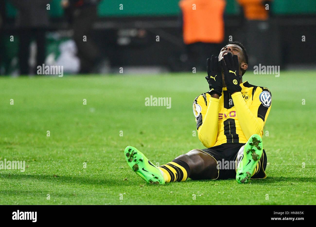 Signal Iduna Park Dortmund, Germany. 8th February, 2017. German football Cup DFB-Pokal 2016/17 Round of sixteen, - Stock Image