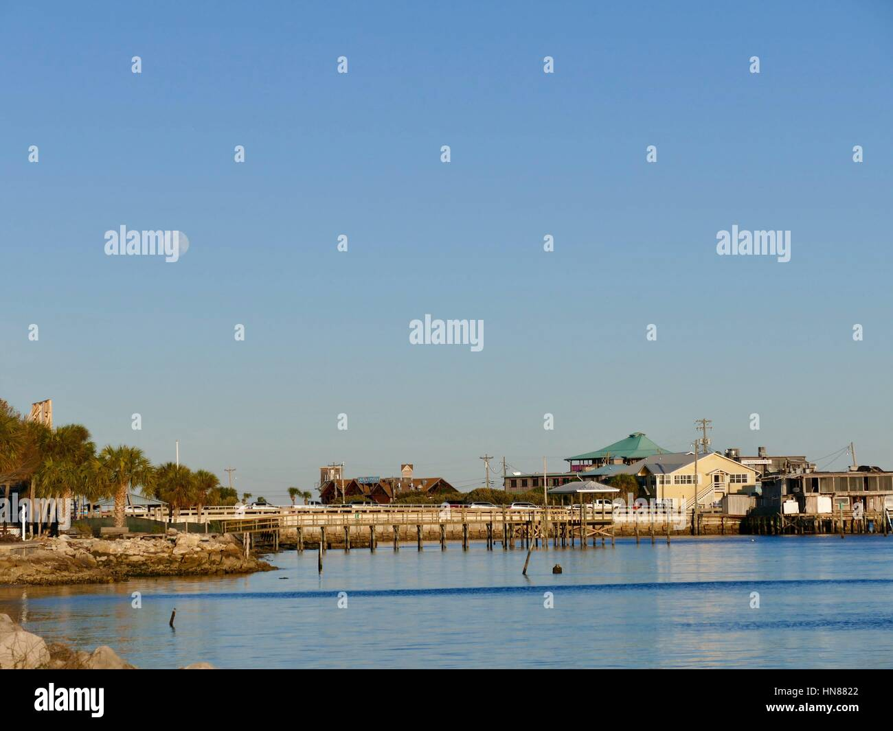 Cedar Key, Florida, USA, 9th Feb, 2017. While much of the US was battling severe winter weather, it was a perfect Stock Photo