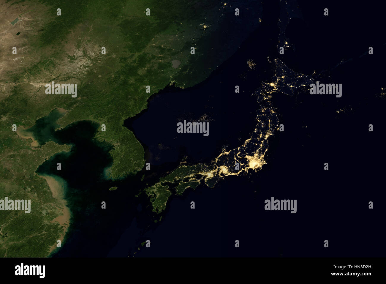 Night globe city light map asia east stock photos night globe city city lights on world map japan stock image gumiabroncs Images