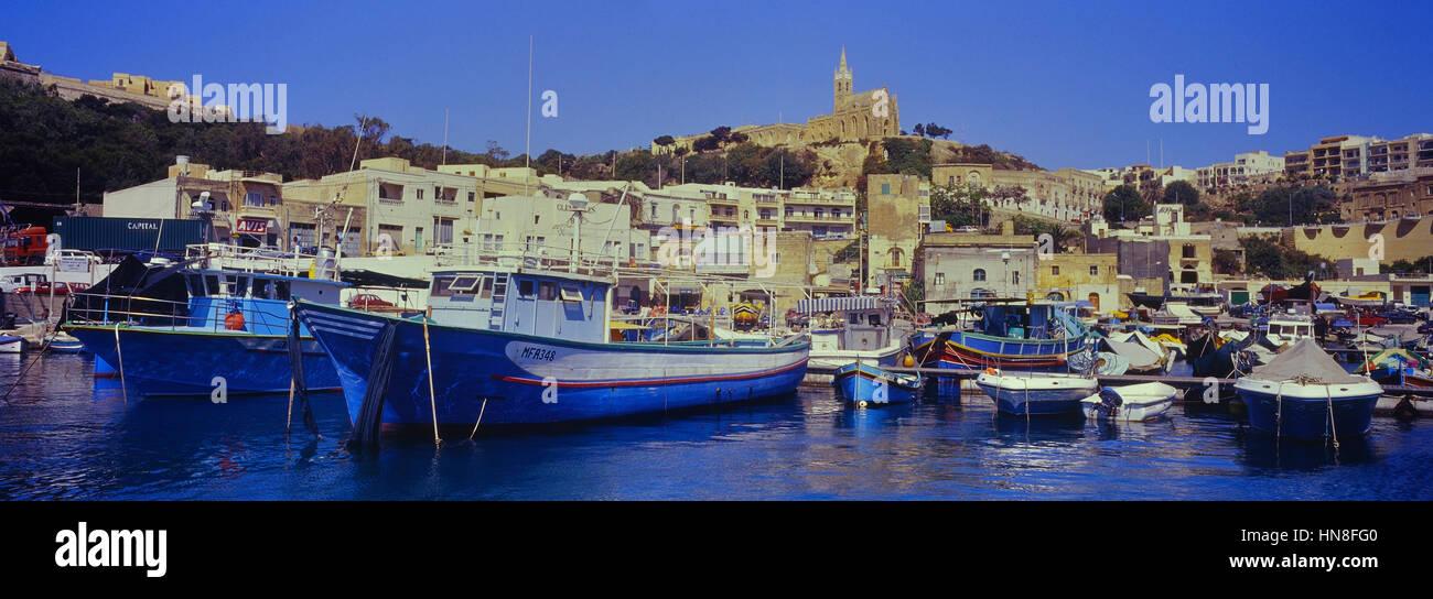 Mġarr harbour. Gozo. Malta. - Stock Image