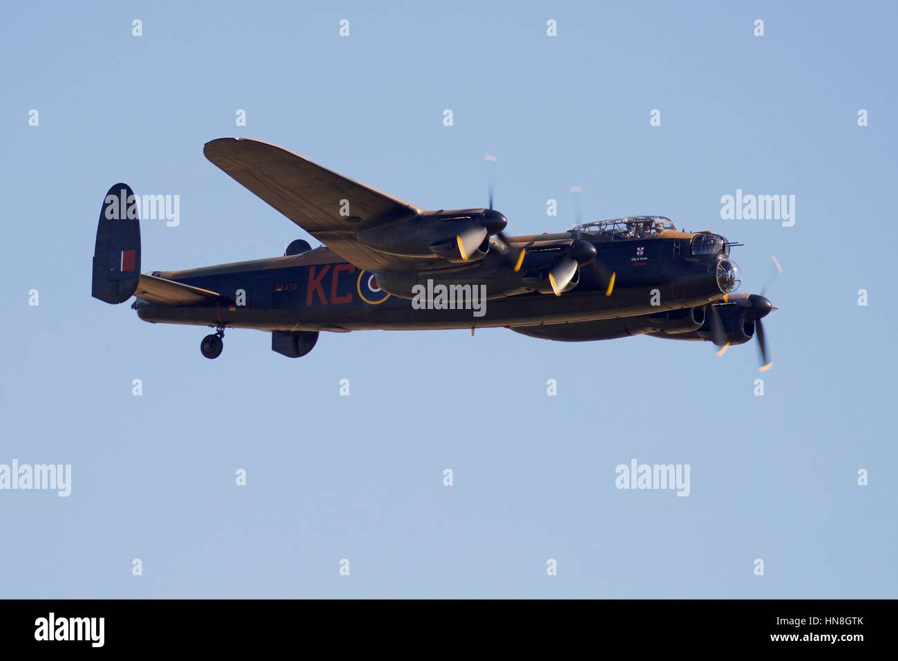 Royal Air Force Avro Lancaster - Stock Image