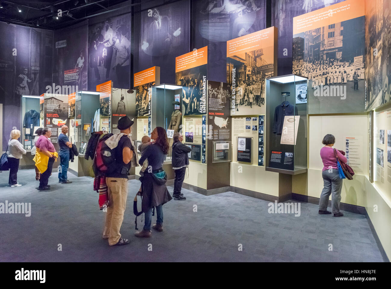 Display in the National Civil Rights Museum, Memphis,Tennessee, USA - Stock Image