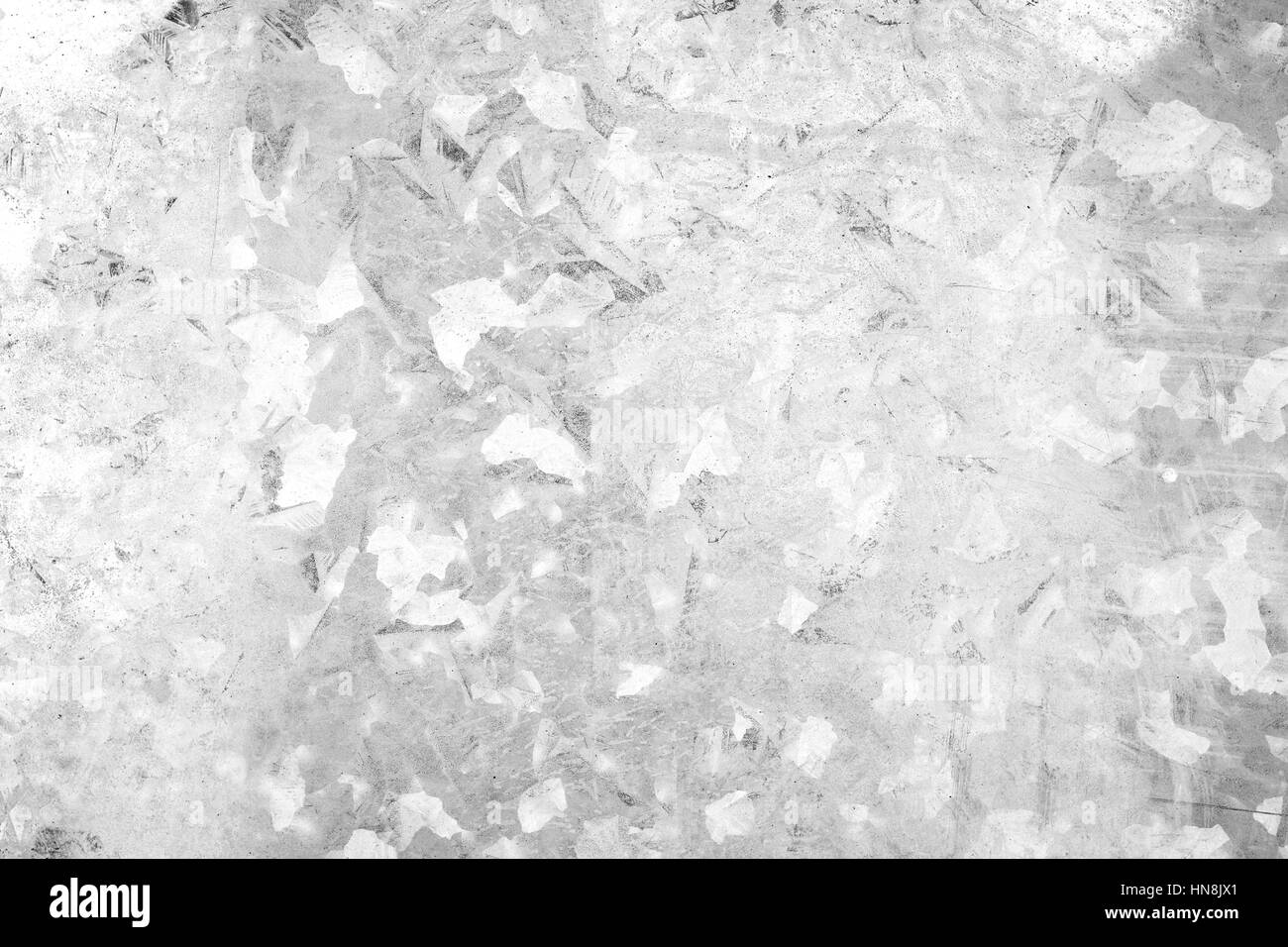 Close-up of a galvanized gray zinc plate texture background in black&white. - Stock Image