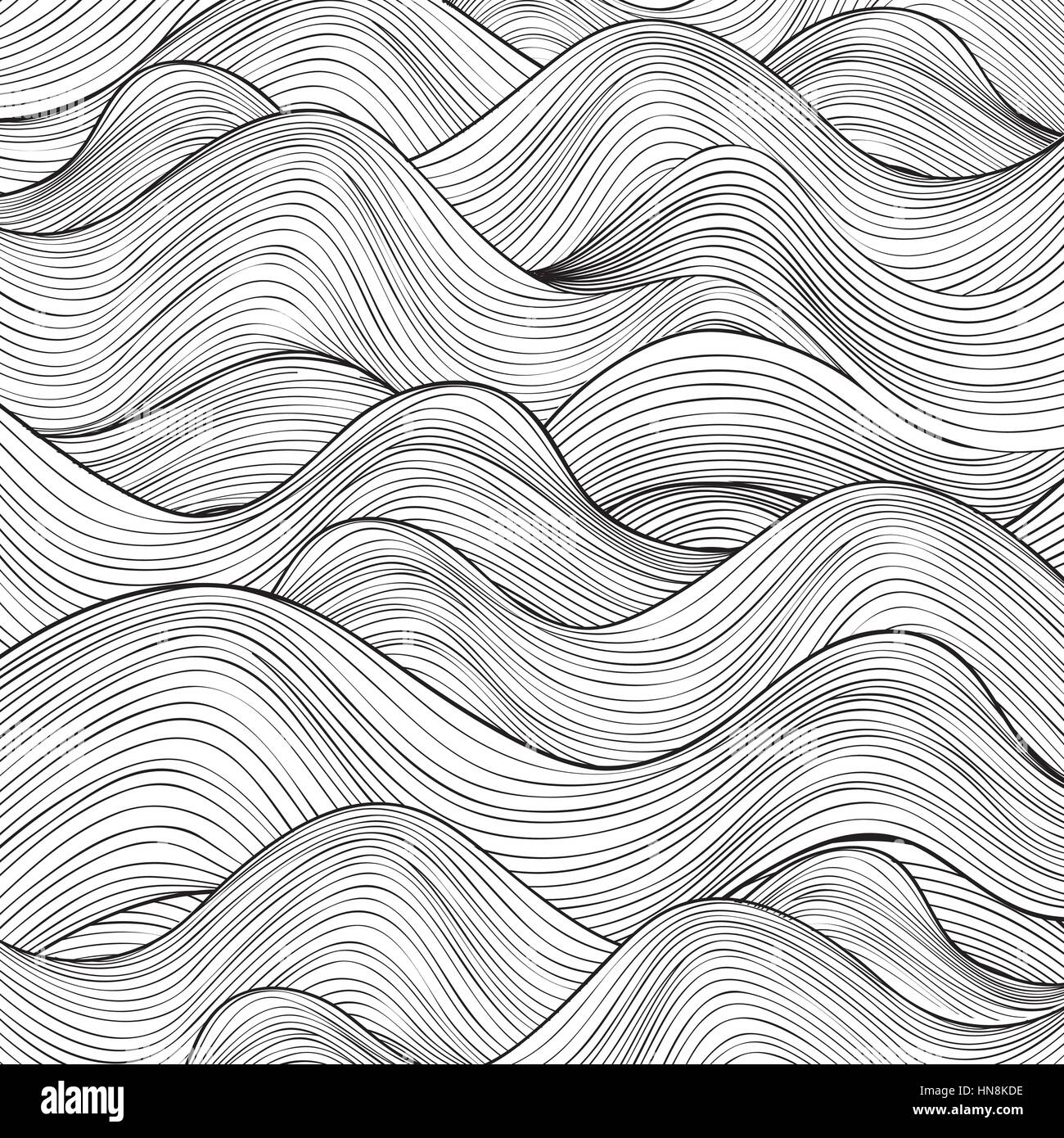 Wave pattern. Geometric texture. Abstract background. - Stock Image
