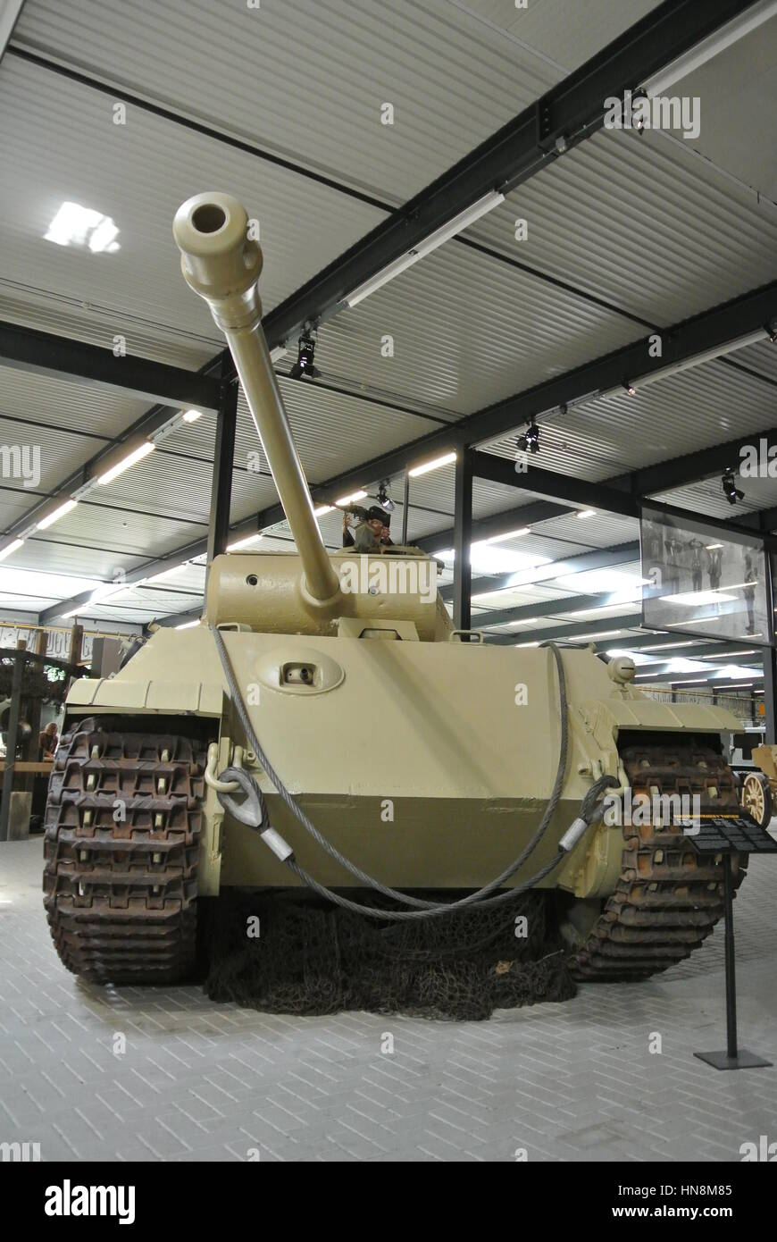 Panther Ausf. G 222 Tank on static display in Dutch National War and Resistance Museum, Overloon, Holland. - Stock Image