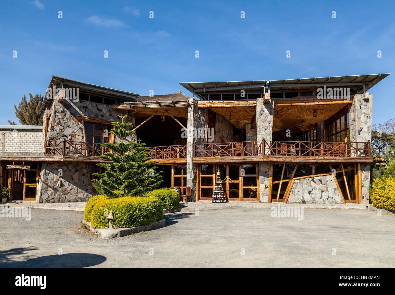 The Kuriftu Castel Wine House and Restaurant, Lake Ziway, Ethiopia - Stock Image