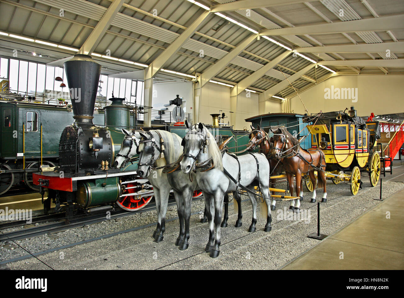In the Swiss Museum of Transport (Verkehrshaus der Schweiz) in Lucerne, Switzerland. - Stock Image