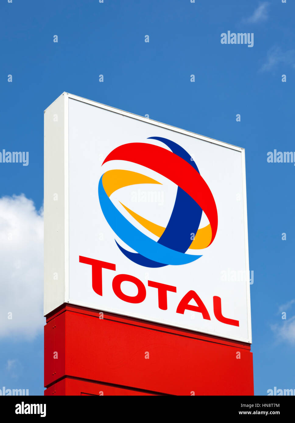 Total Sign Identifying A Gas Station Total Sa Is A French Stock