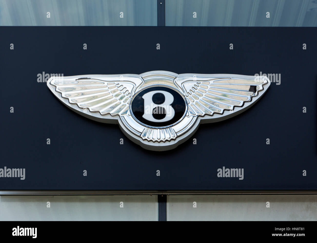 Bentley Logo On The Outside Of Car Dealer S Building Bentley Is A