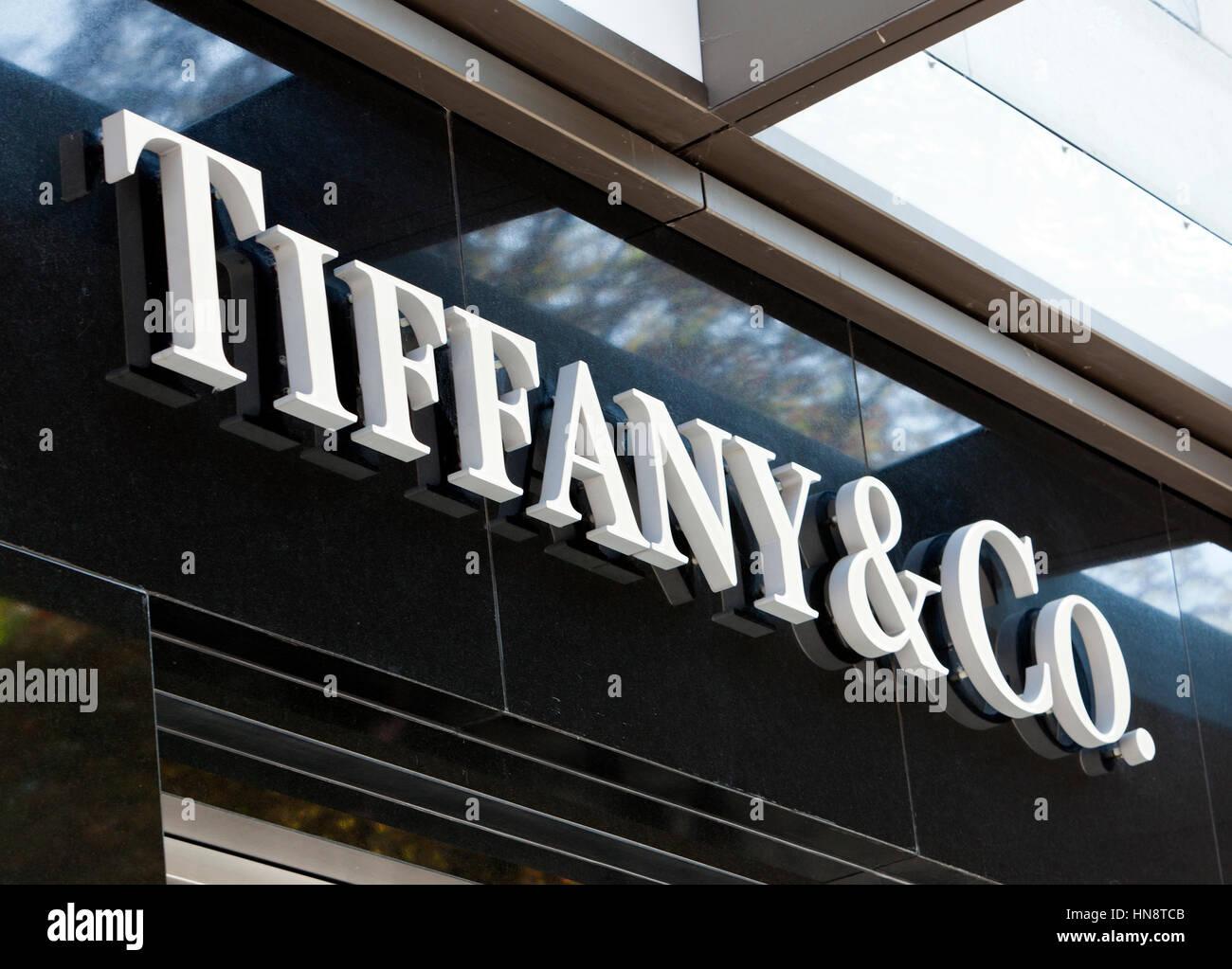 33f08116ed9b Tiffany and Co. logo on their store on Königsallee