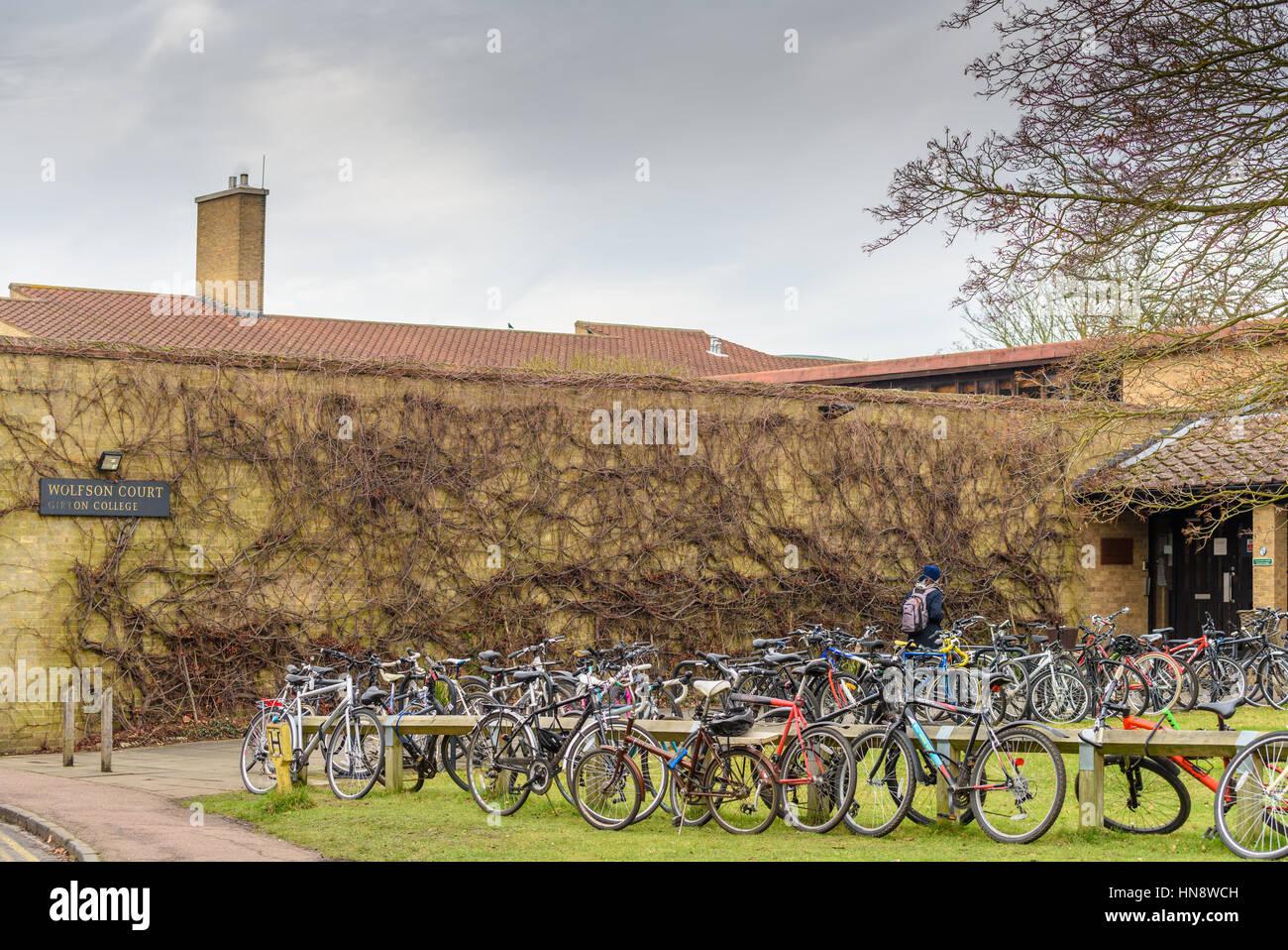 Girton college at the University of Cambridge, England. - Stock Image