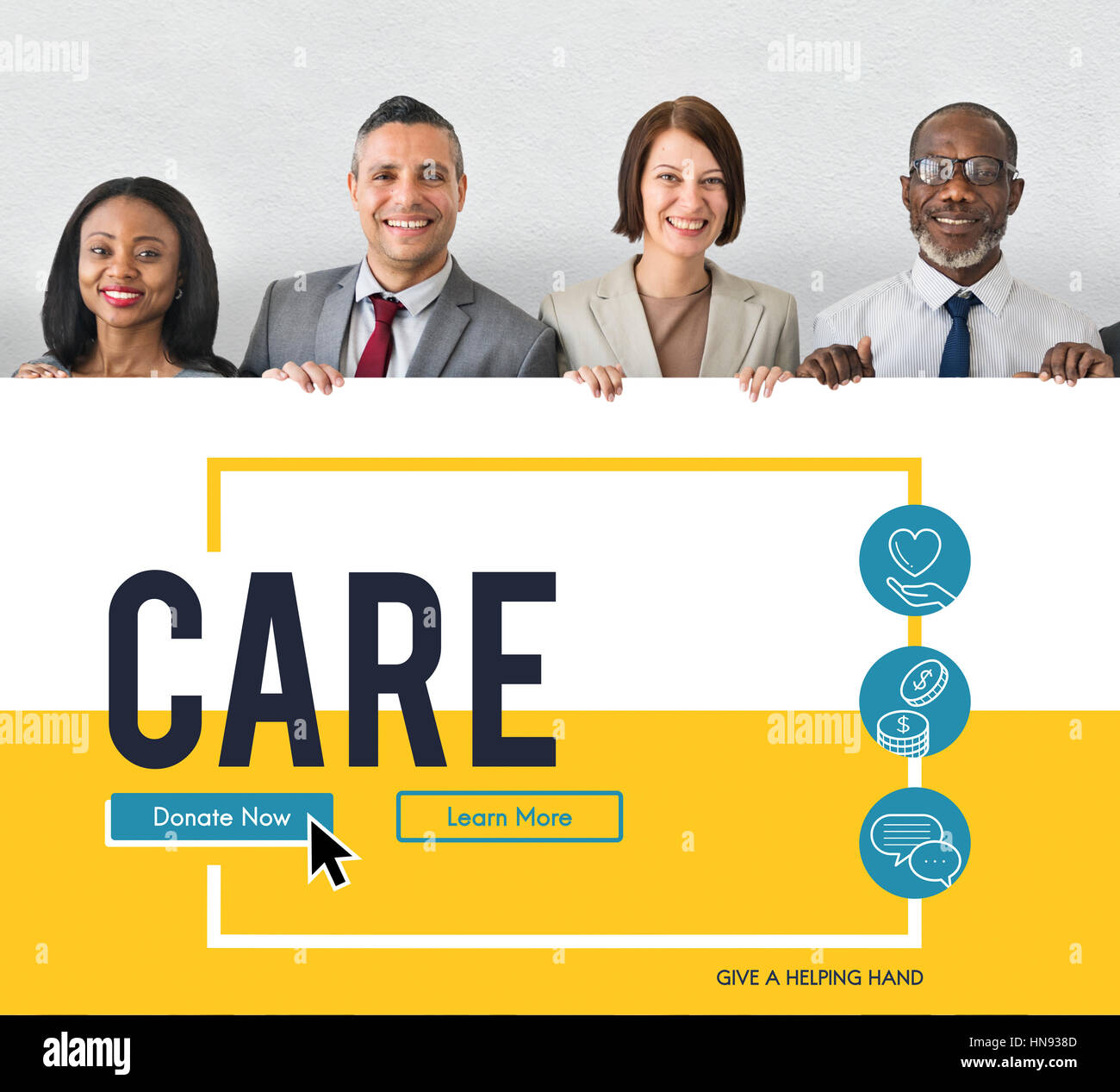 Hope Care Donate Altruism Philanthropy - Stock Image