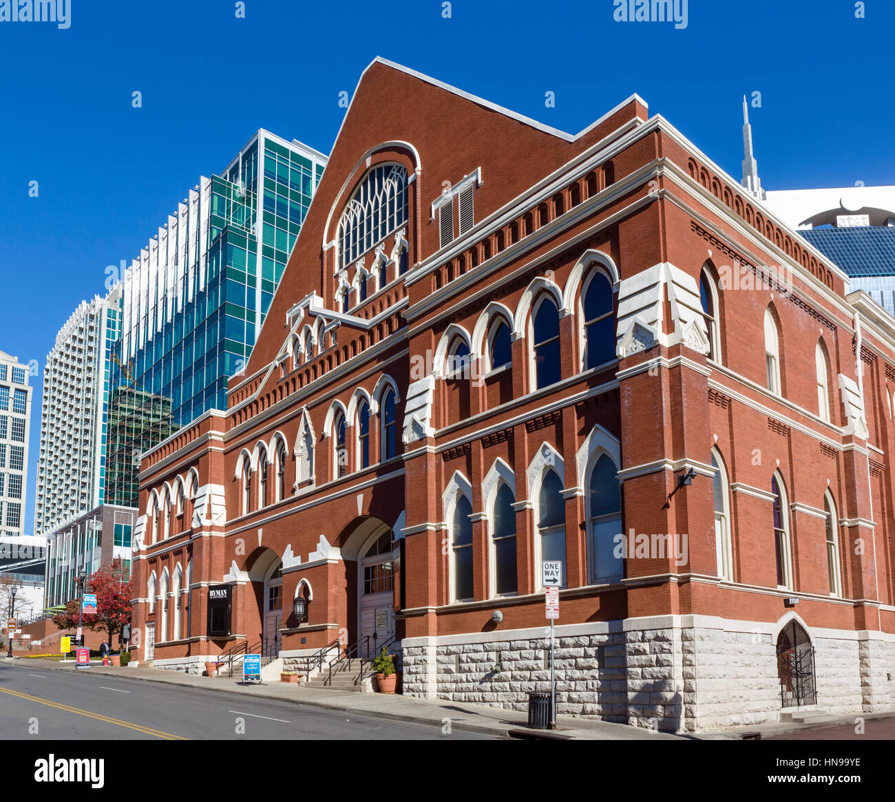 Ryman Auditorium, formerly the Grand Ole Opry House from 1943-1974, Nashville,Tennessee, USA - Stock Image