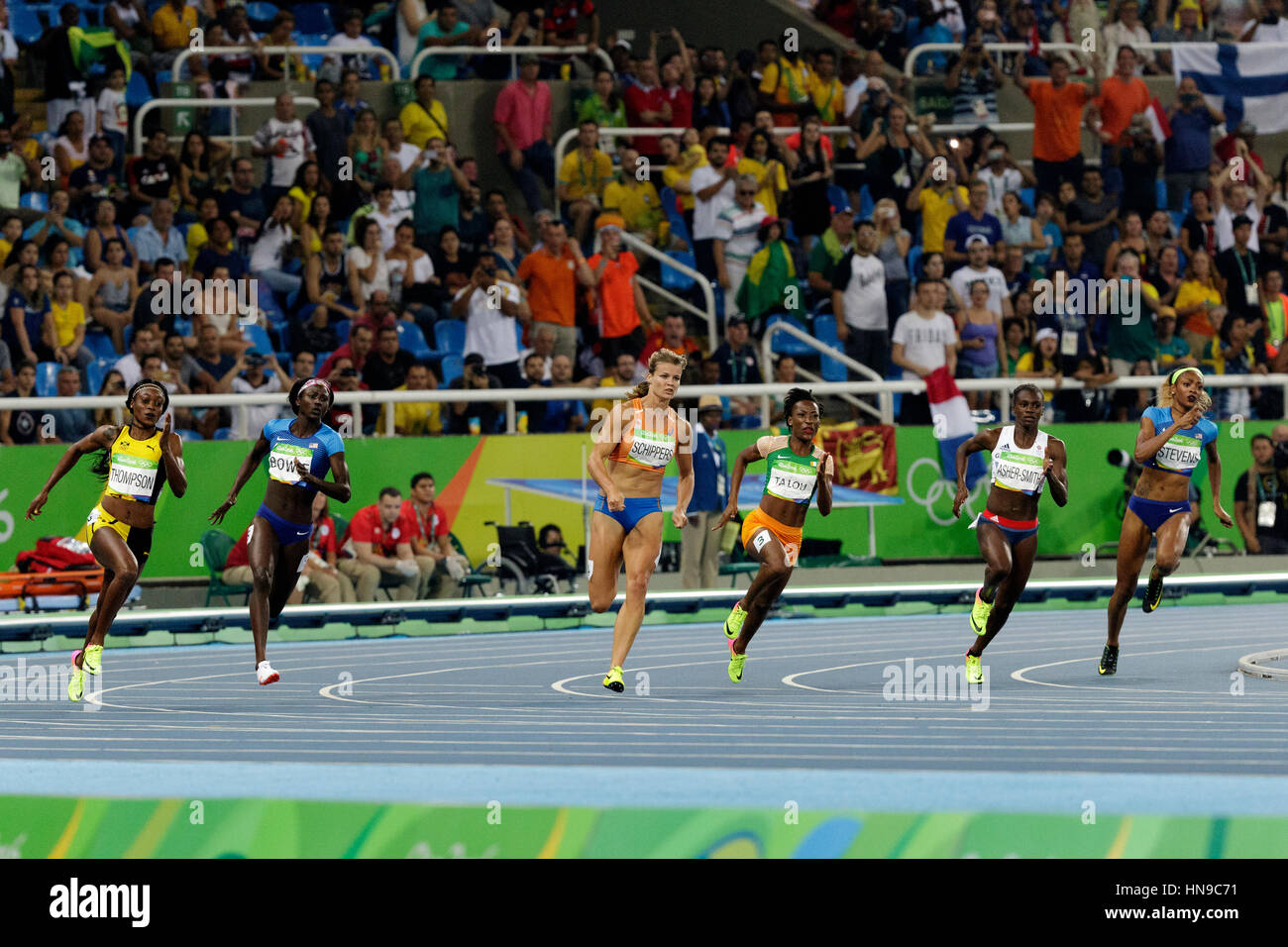 Rio de Janeiro, Brazil. 17 August 2016.  Athletics, Women's 200m finals at the 2016 Olympic Summer Games. ©Paul - Stock Image