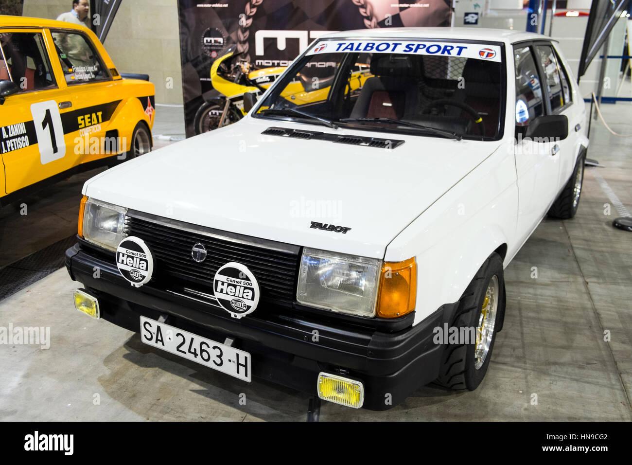 1985 Talbot Horizon. Retro Málaga 2017 - Stock Image