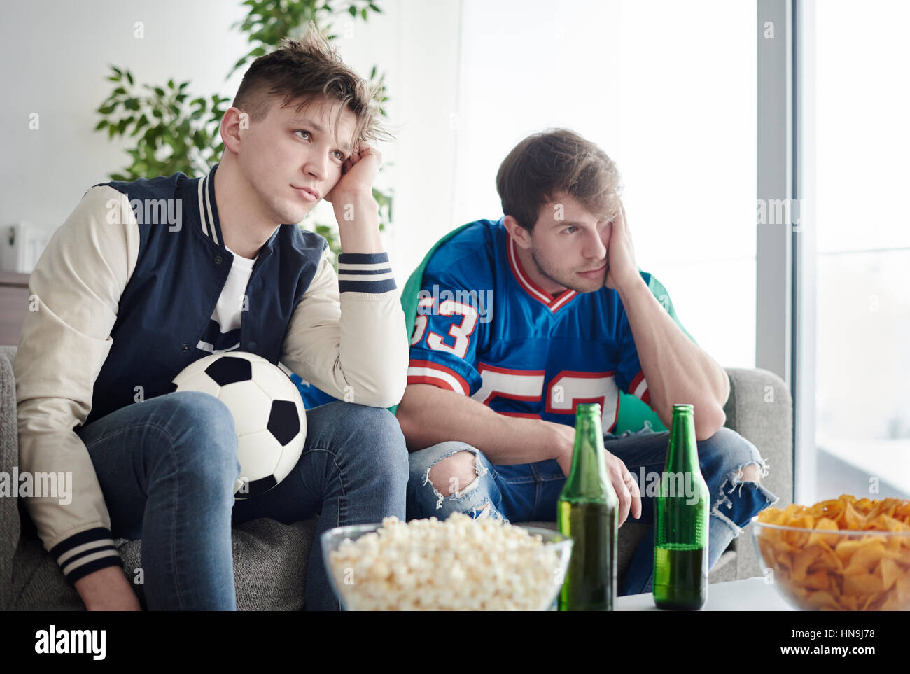 Unhappy and very dissatisfied mates - Stock Image