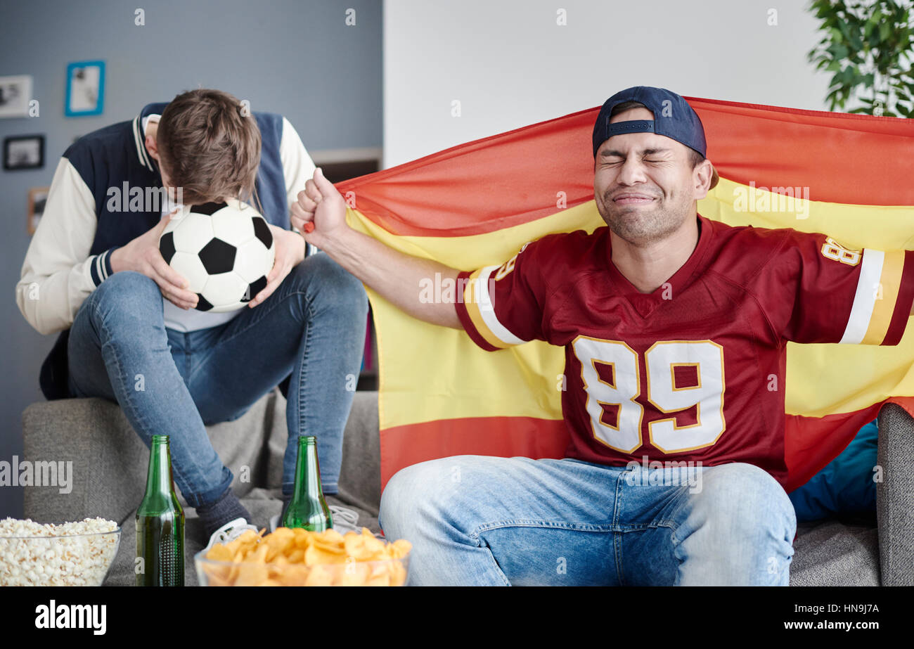 Unexpected goal for opponent team - Stock Image