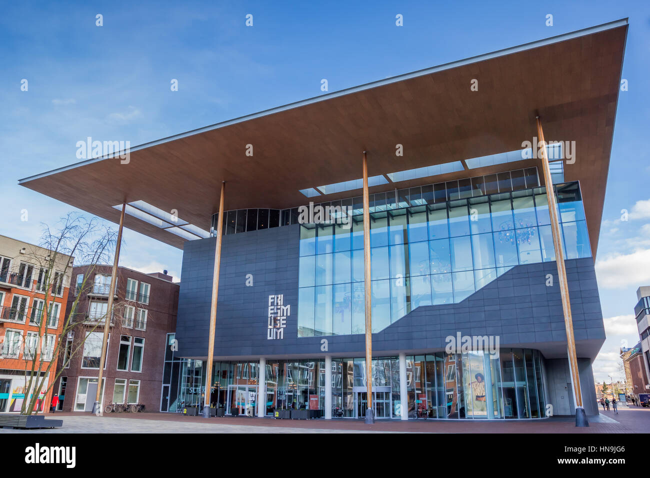 Fries Museum at the Zaailand in Leeuwarden, Netherlands - Stock Image