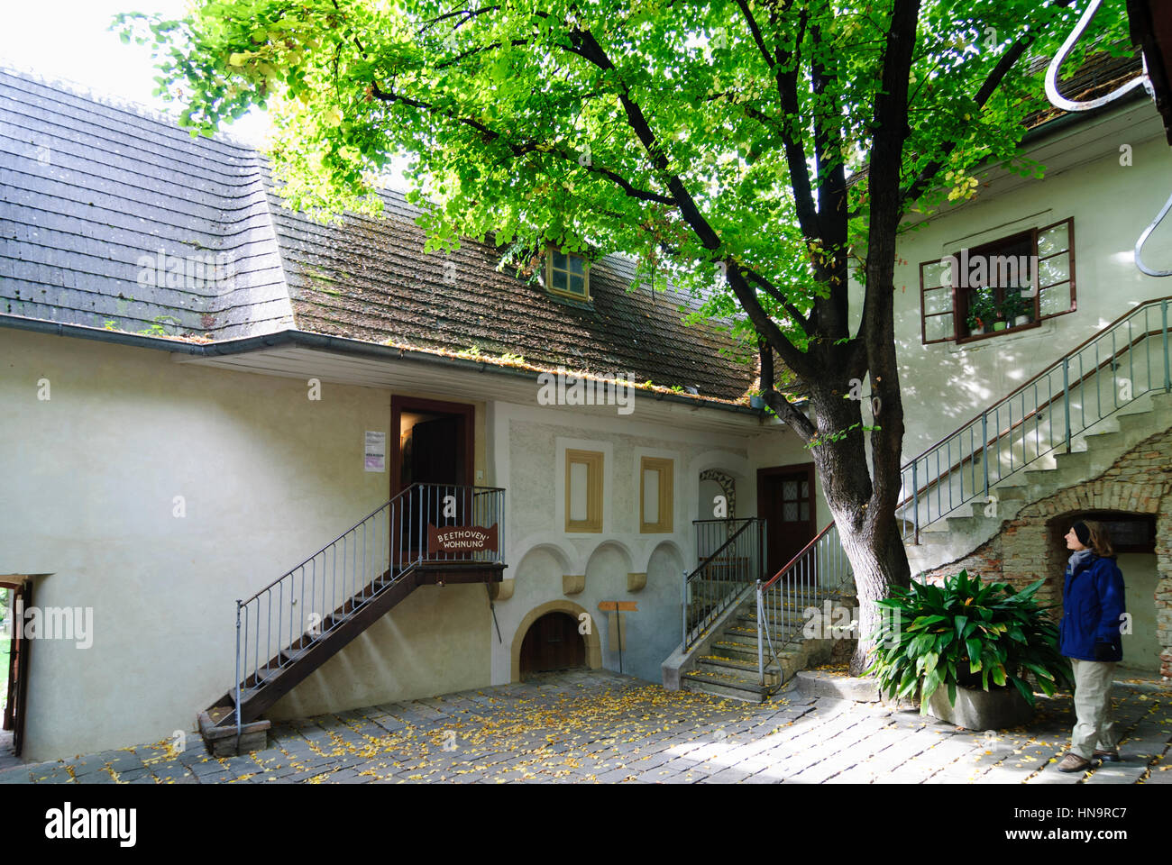 Wien, Vienna, Heiligenstadt Testament House: here lived Beethoven in 1802 and wrote a letter about his beginning - Stock Image