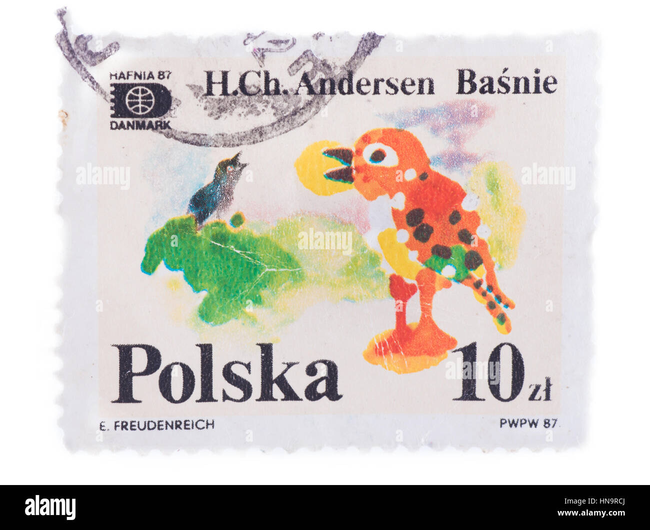 POLAND - CIRCA 1987: A stamp printed in , shows The Nighti - Stock Image