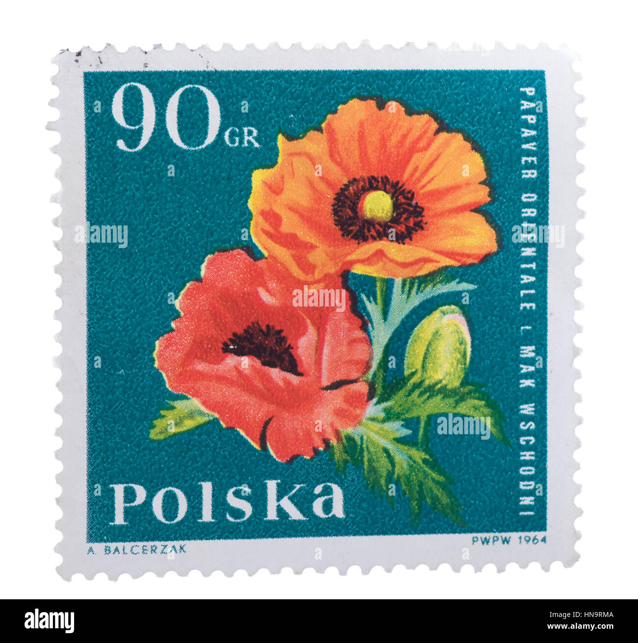 POLAND - CIRCA 1964: a stamp printed in the  shows Orienta - Stock Image