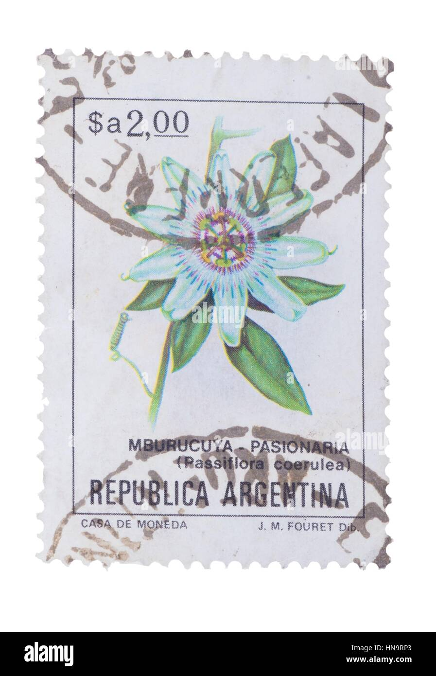ARGENTINA - CIRCA 1983: a stamp printed in the  shows B - Stock Image