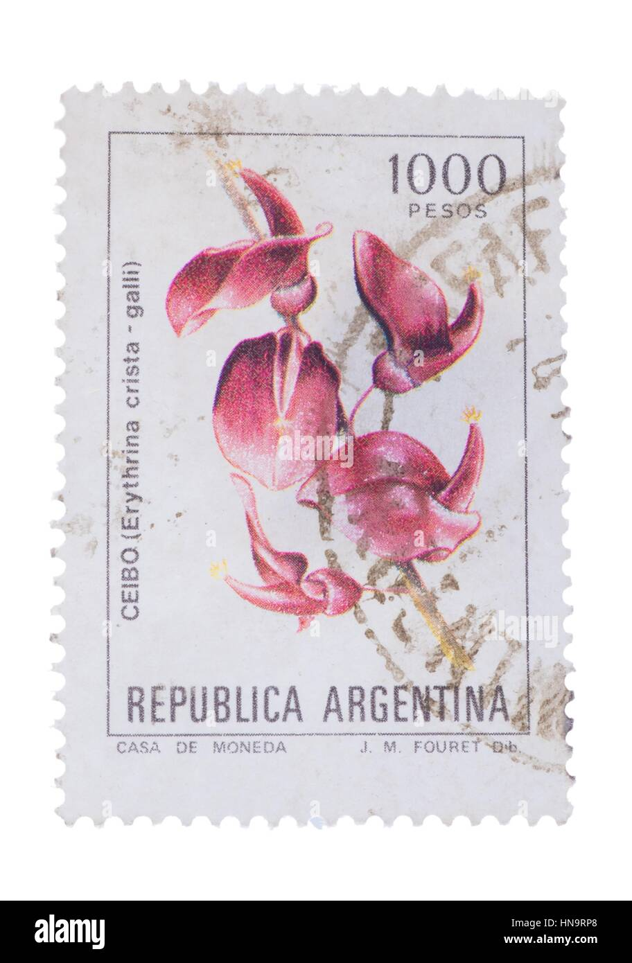 ARGENTINA - CIRCA 1983: a stamp printed in the  shows C - Stock Image