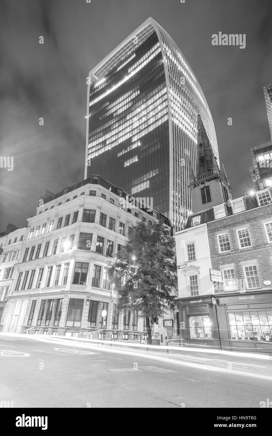 Walkie talkie building London - Stock Image